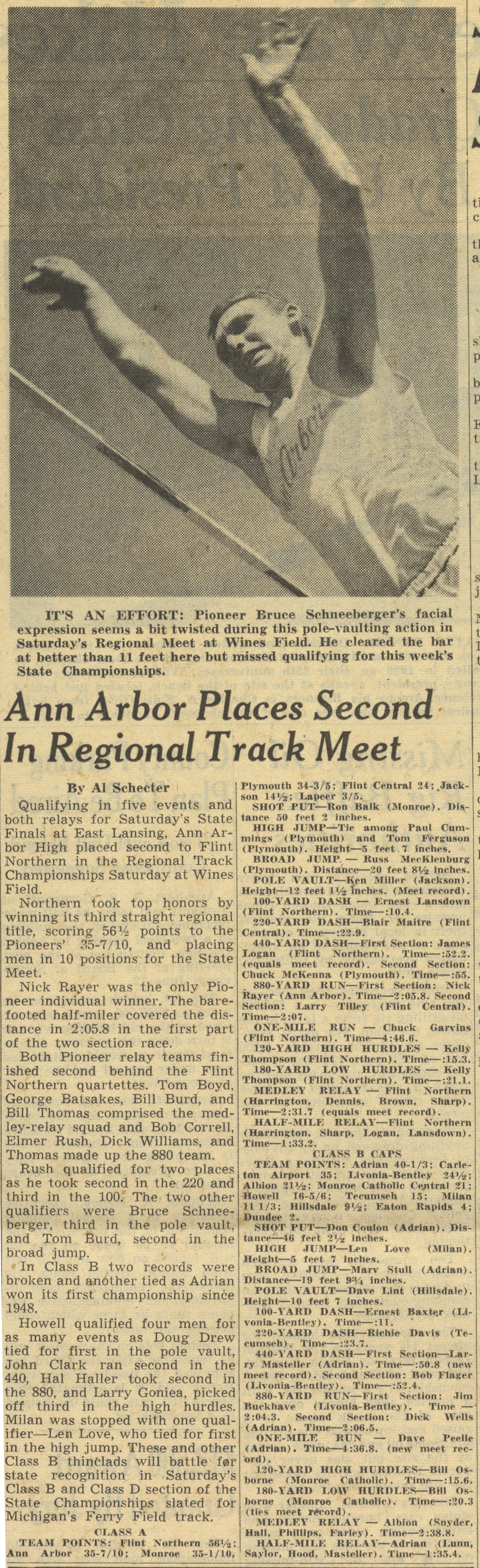 Ann Arbor Places Second In Regional Track Meet image