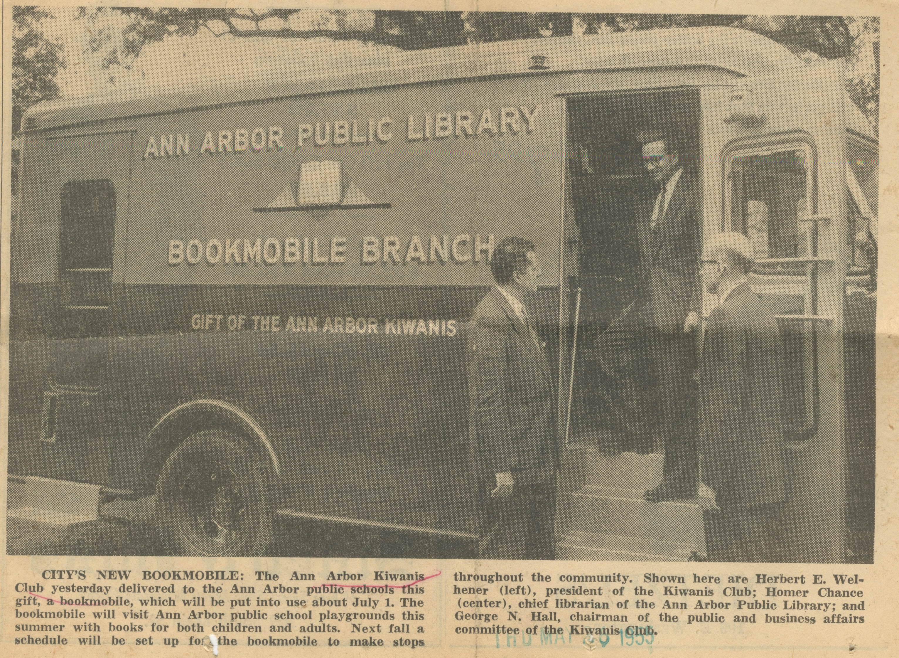 City's New Bookmobile image