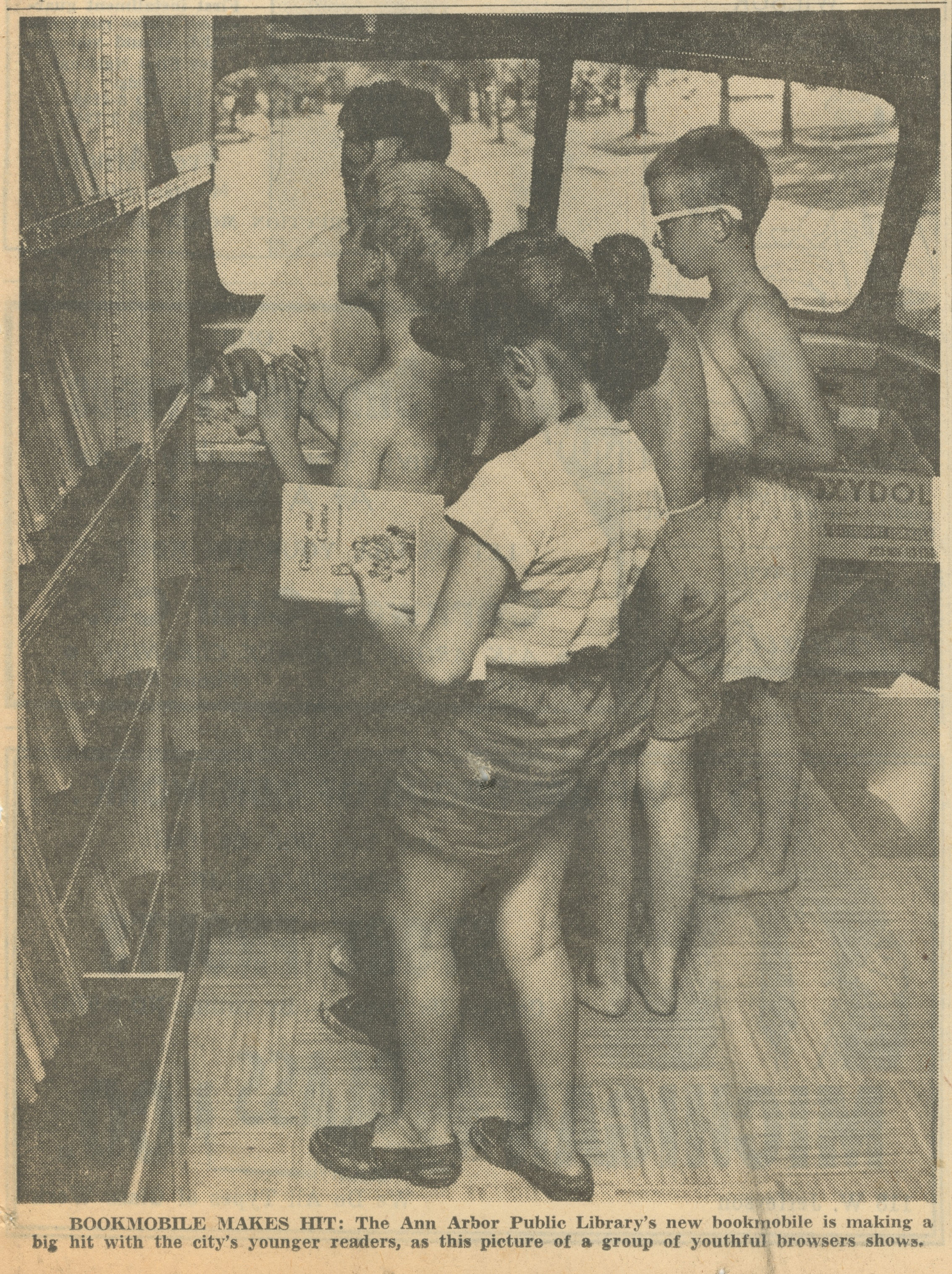 Bookmobile Makes Hit image