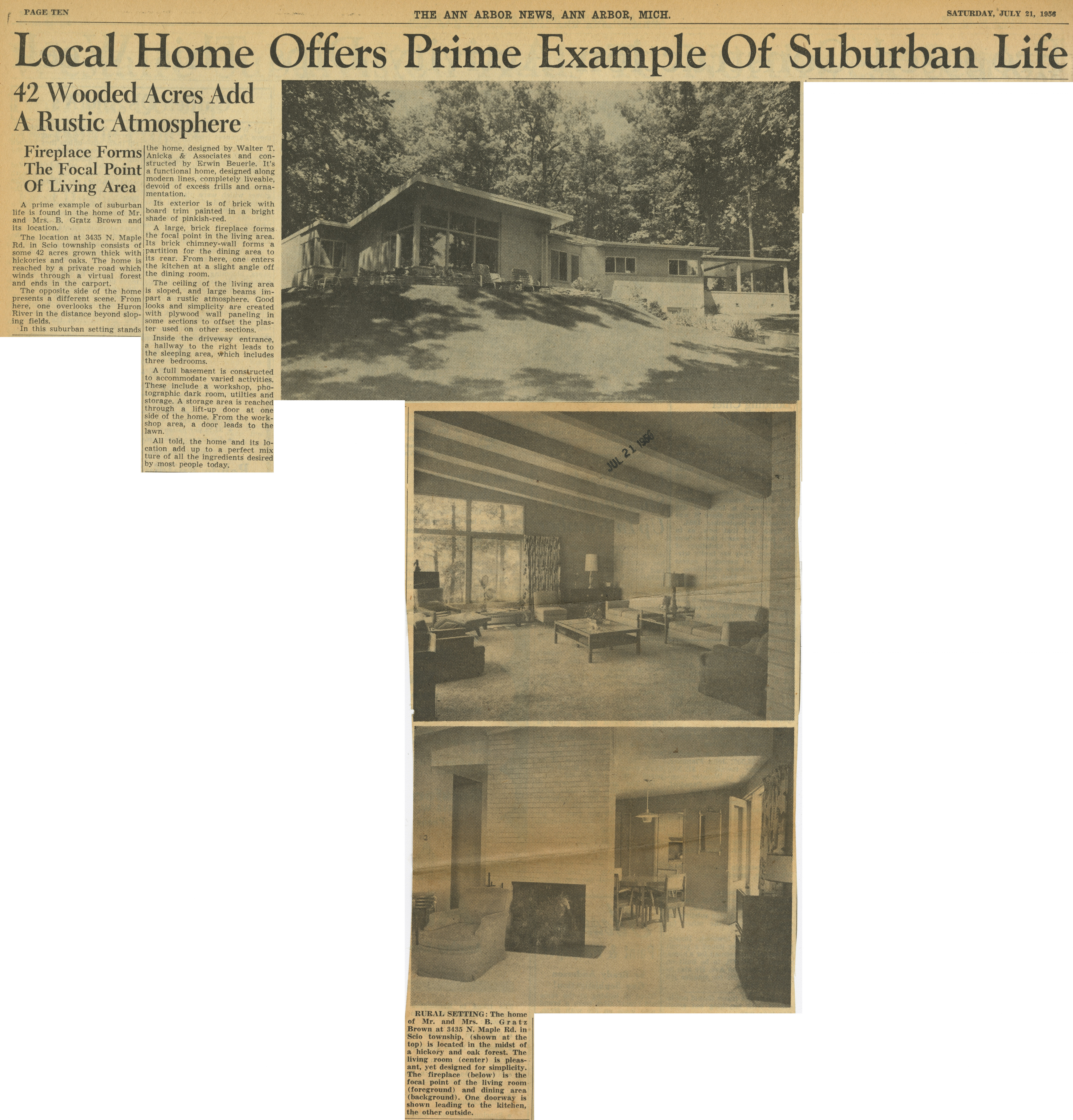 Suburban Ann Arbor >> Local Home Offers Prime Example Of Suburban Life Ann Arbor