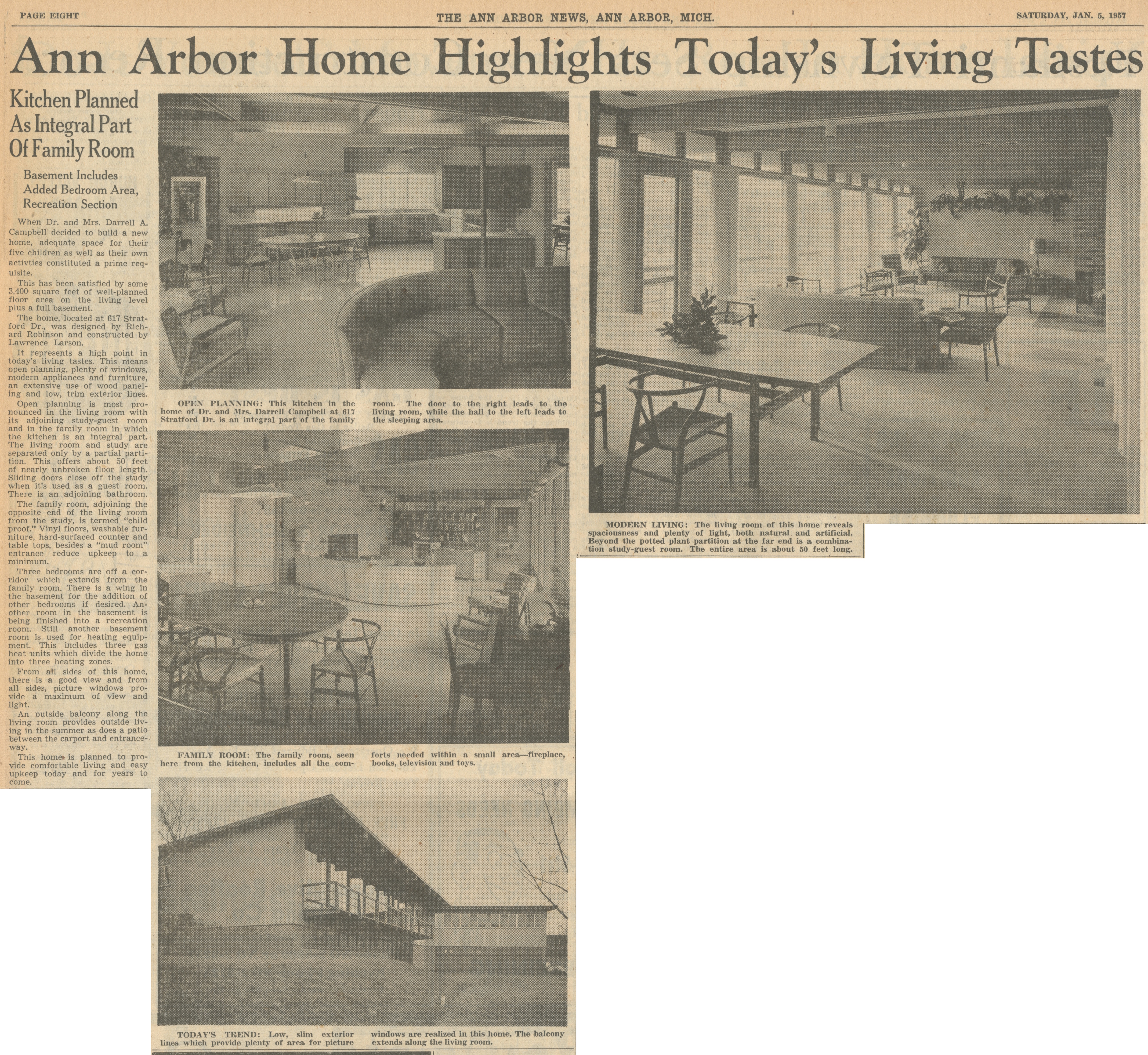 Ann Arbor Home Highlights Today's Living Tastes image