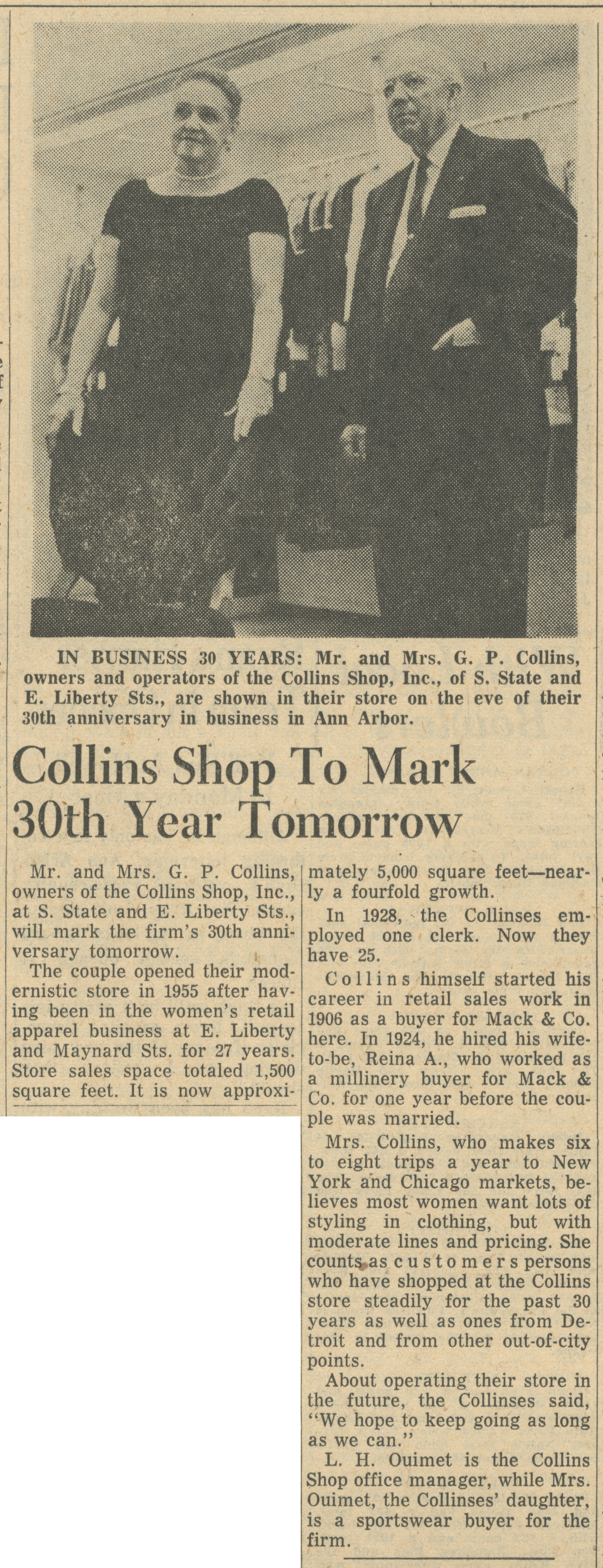 Collins Shop To Mark 30th Year Tomorrow image