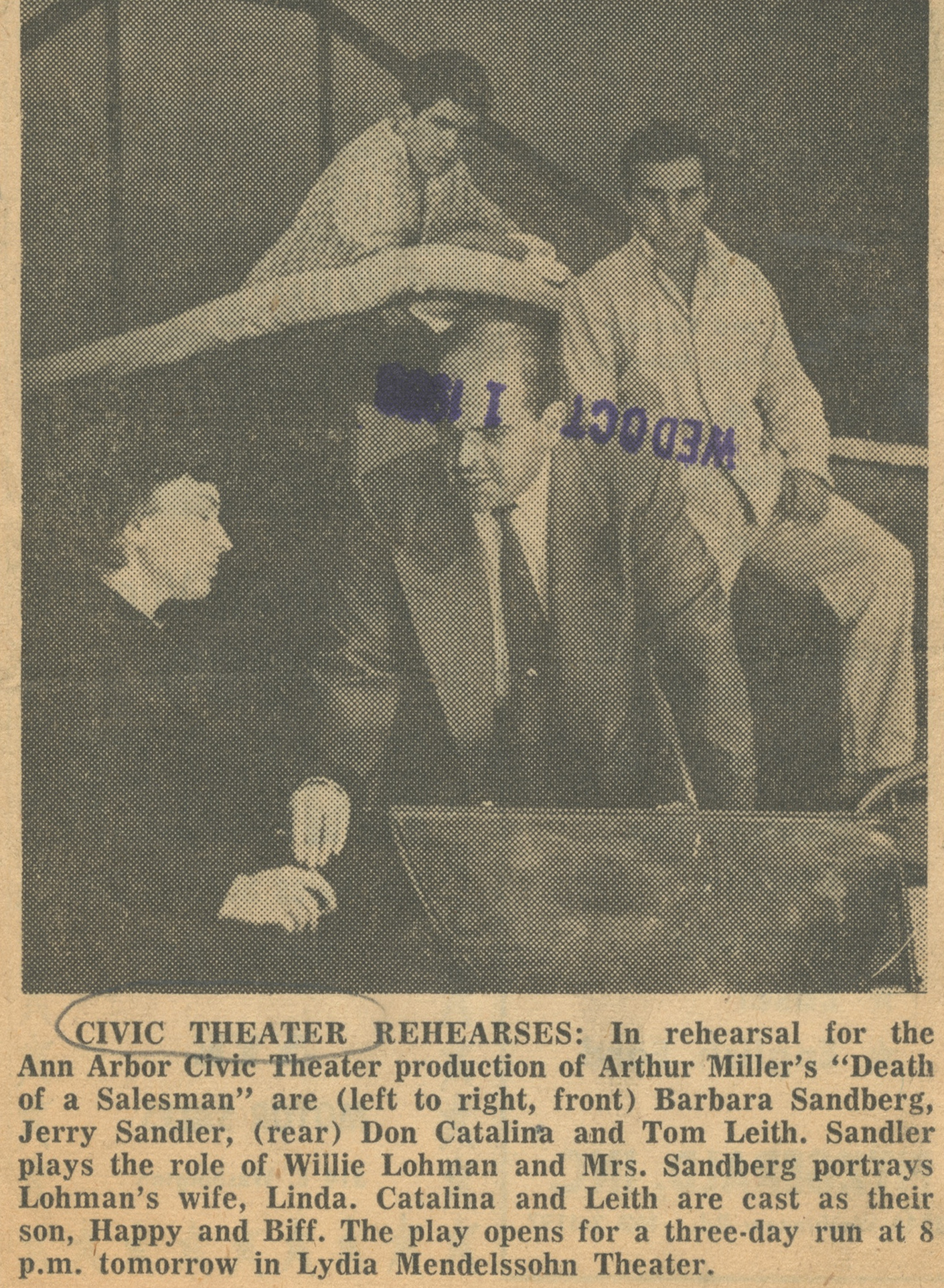 Civic Theater Rehearses image