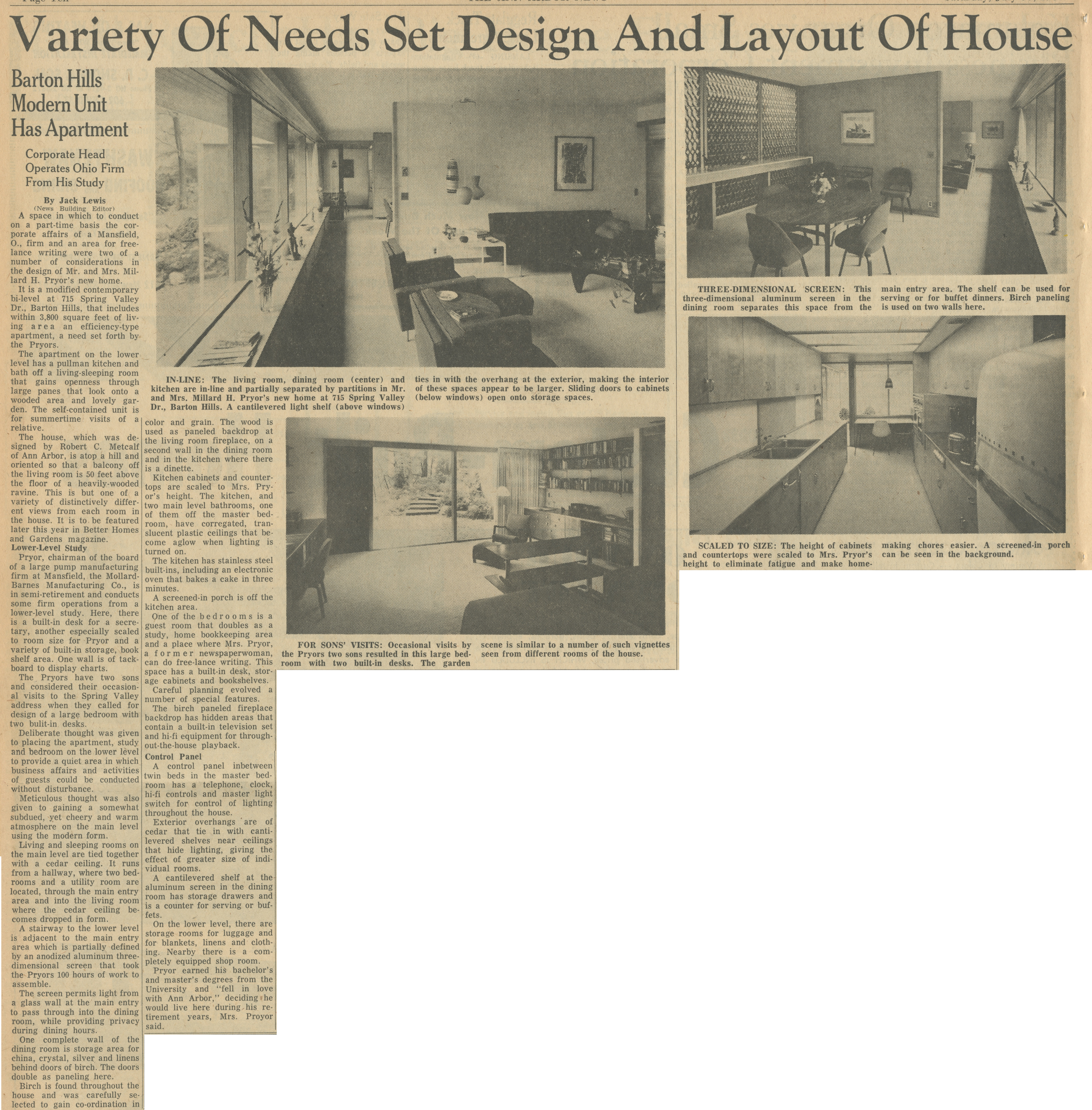 Variety Of Needs Set Design And Layout Of House image
