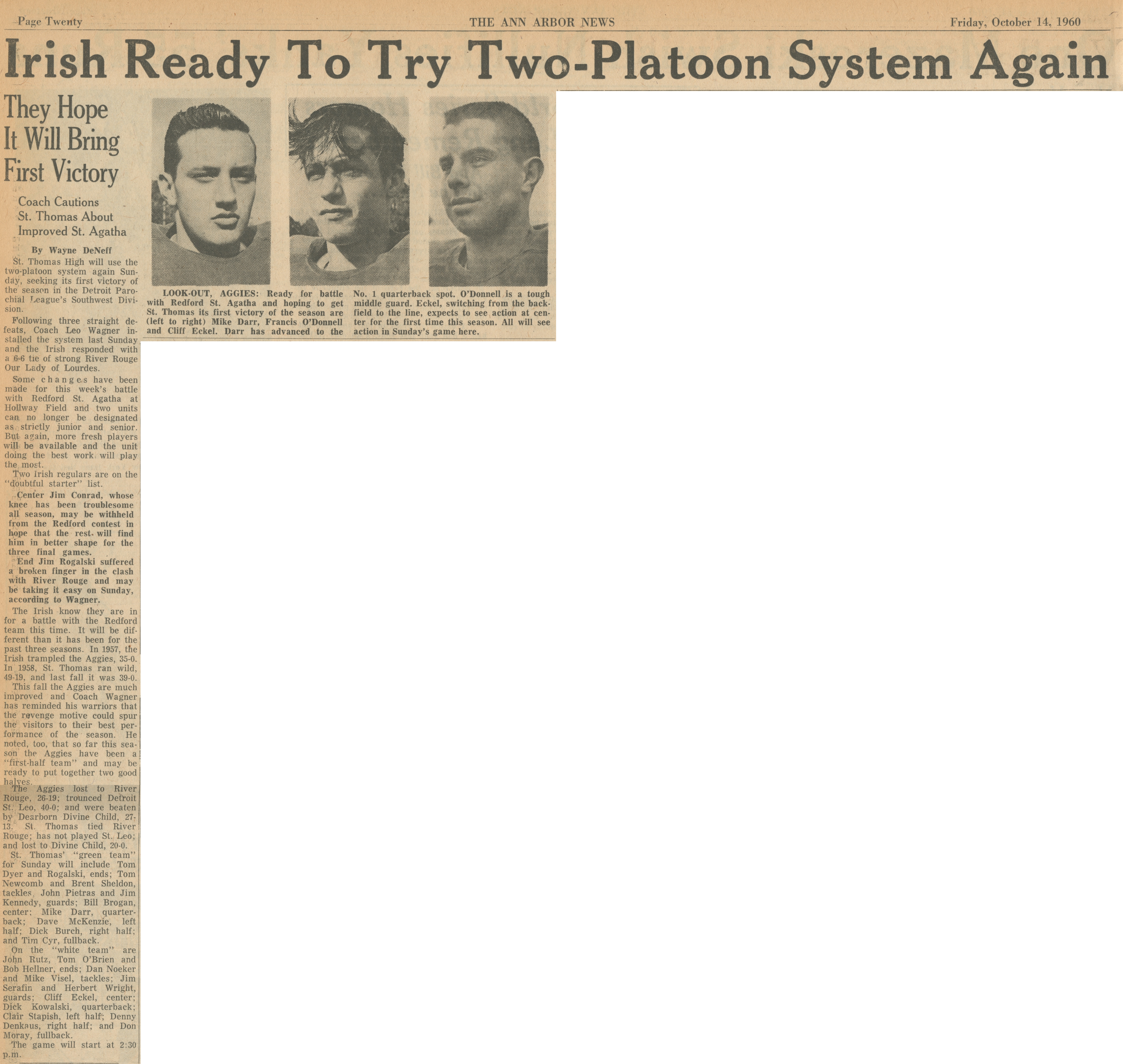 Irish Ready To Try Two-Platoon System Again image