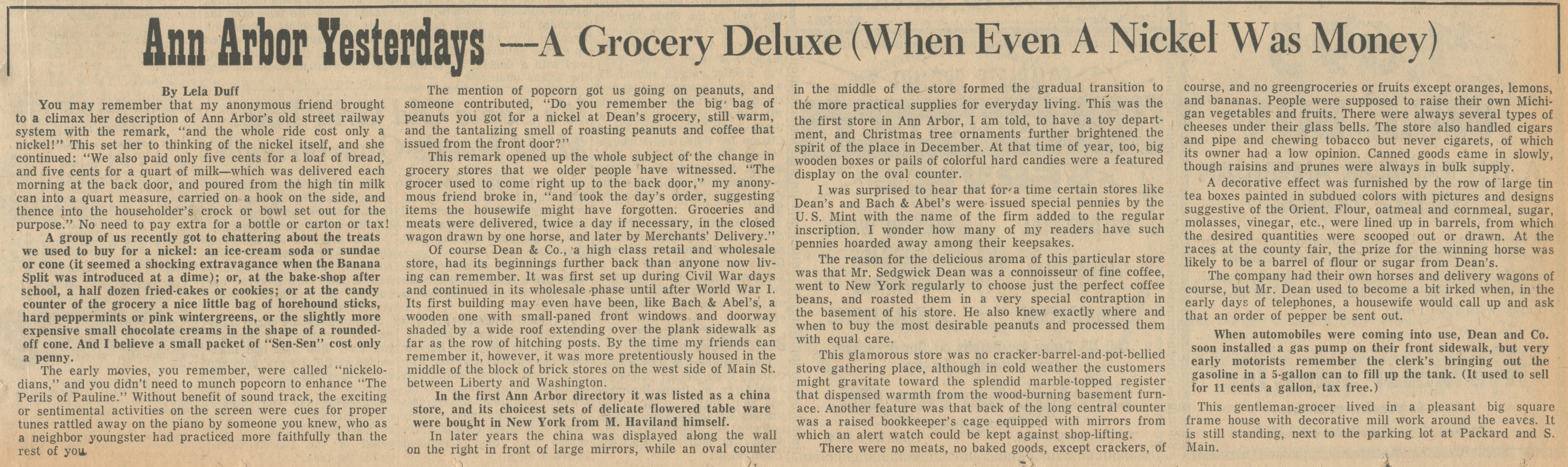 Ann Arbor Yesterdays ~ A Grocery Deluxe (When Even A Nickel Was Money) image