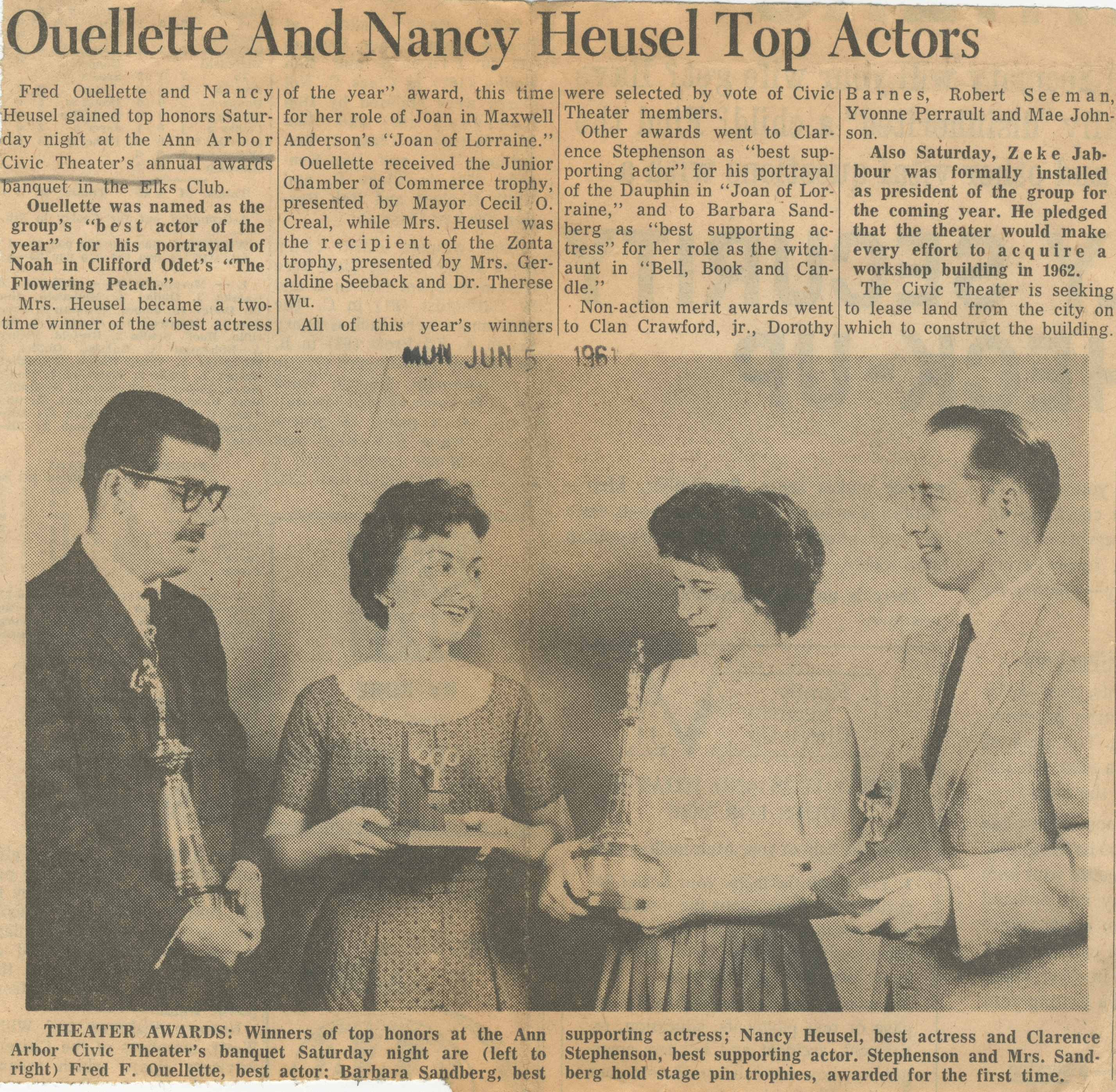 Ouellette And Nancy Heusel Top Actors image