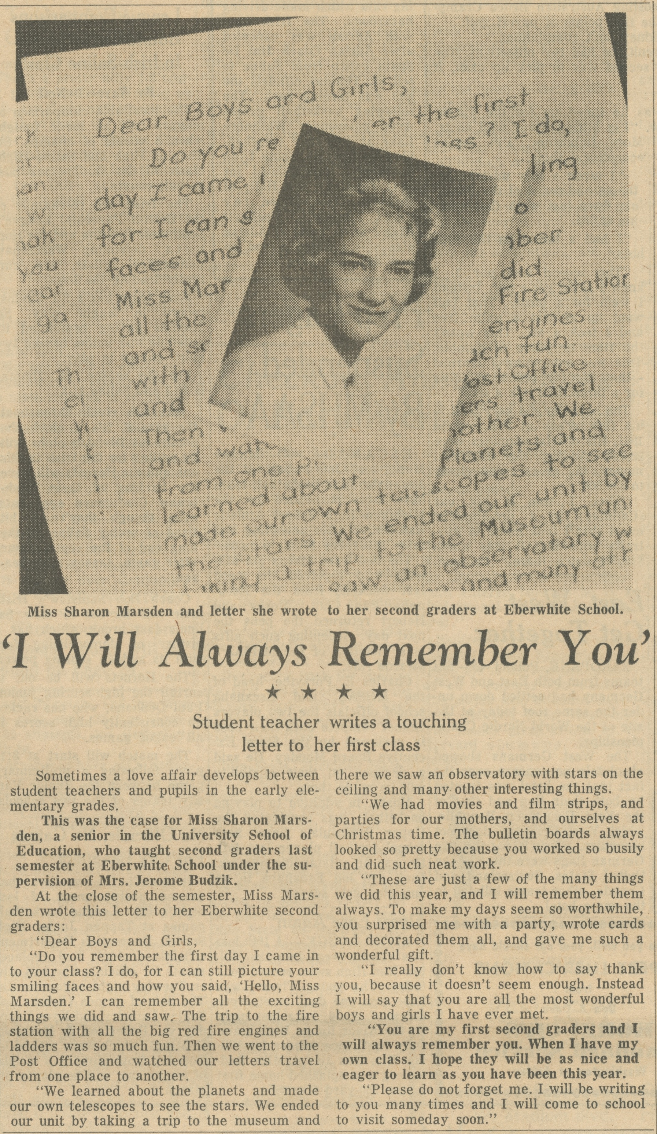 'I Will Always Remember You' image