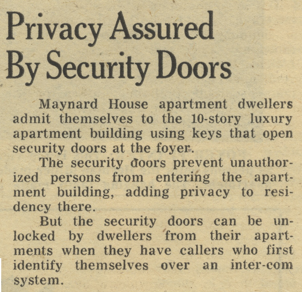 Privacy Assured By Security Doors image