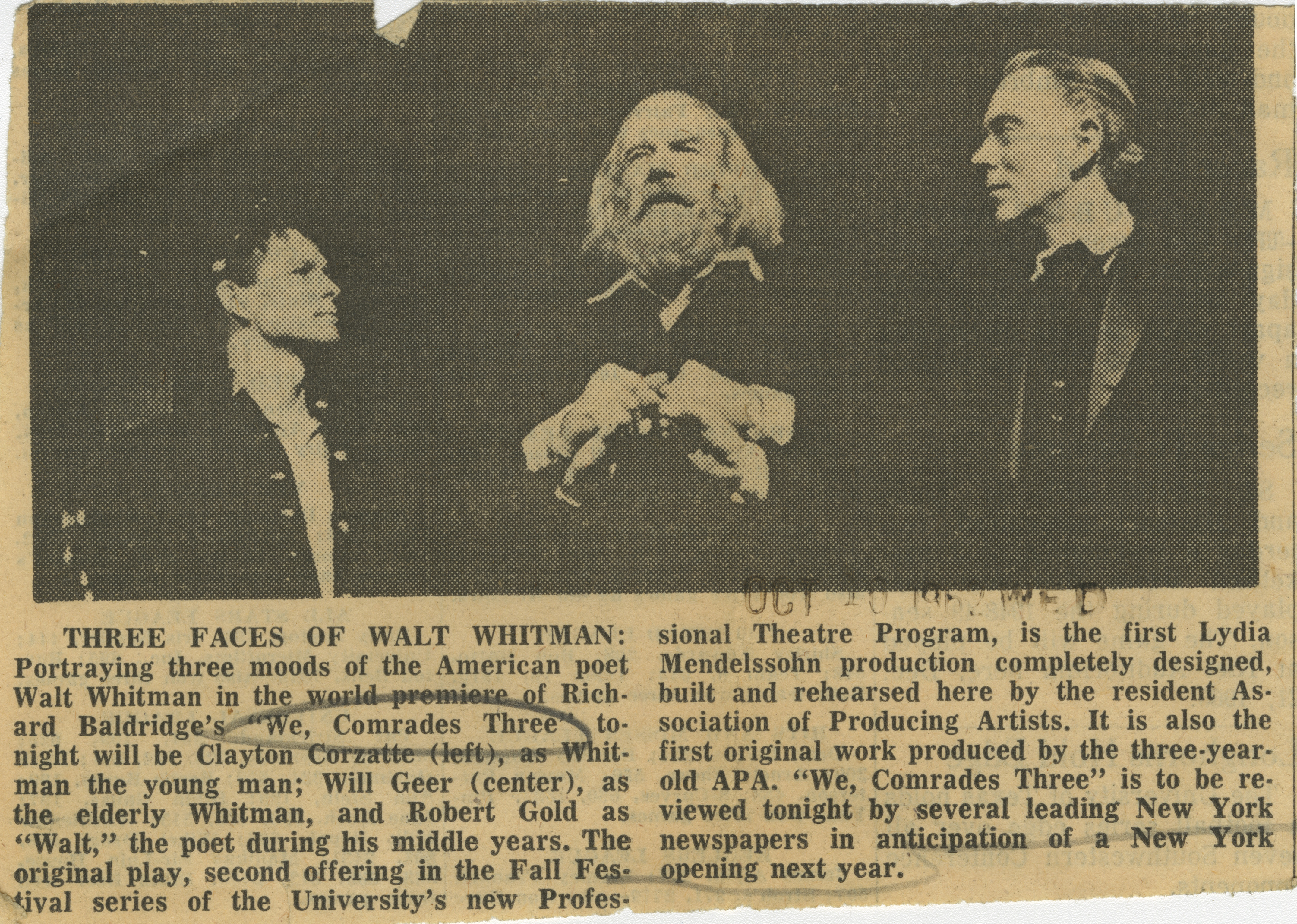 Three Faces of Walt Whitman image