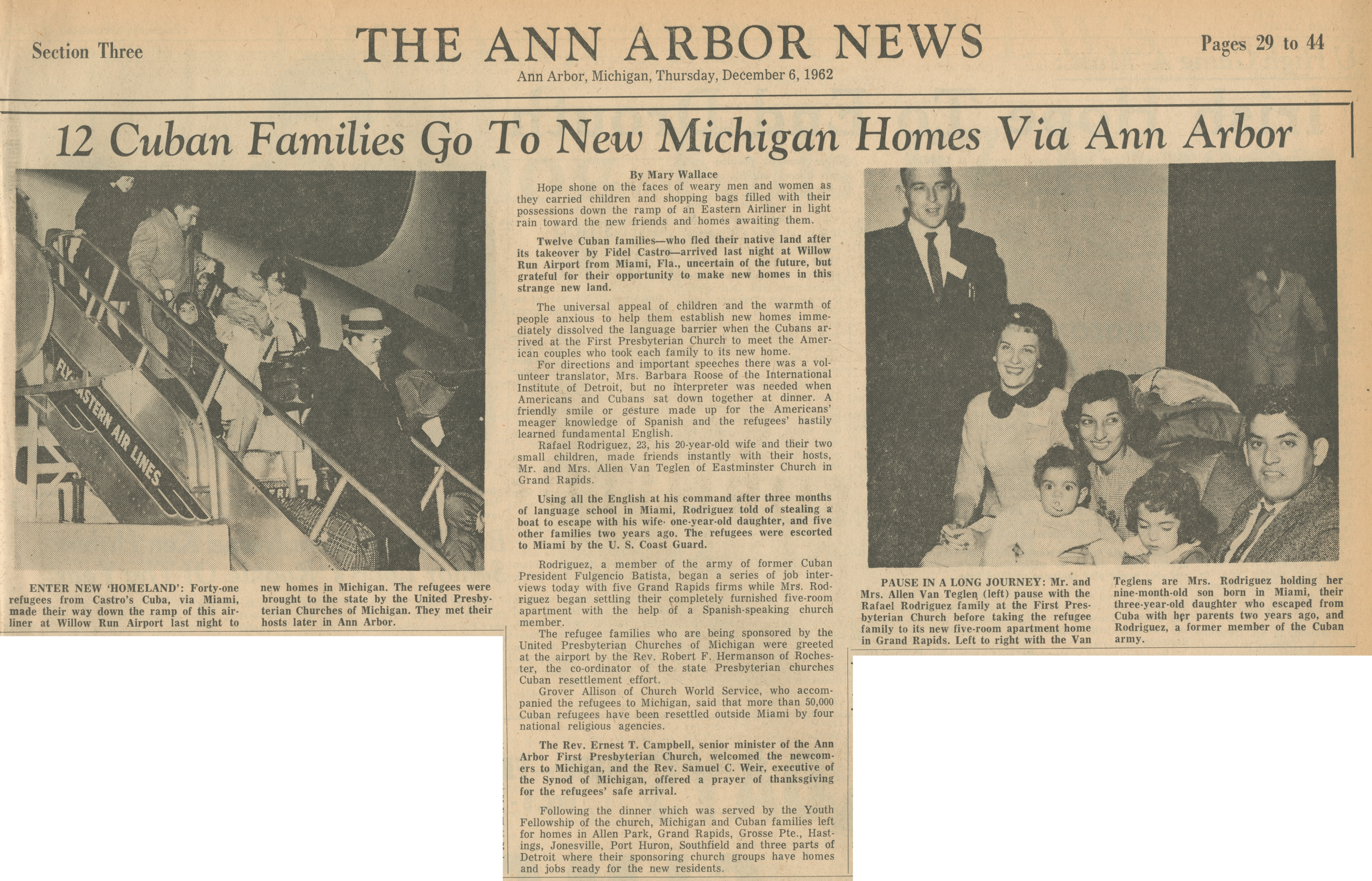 12 Cuban Families Go To New Michigan Homes Via Ann Arbor image