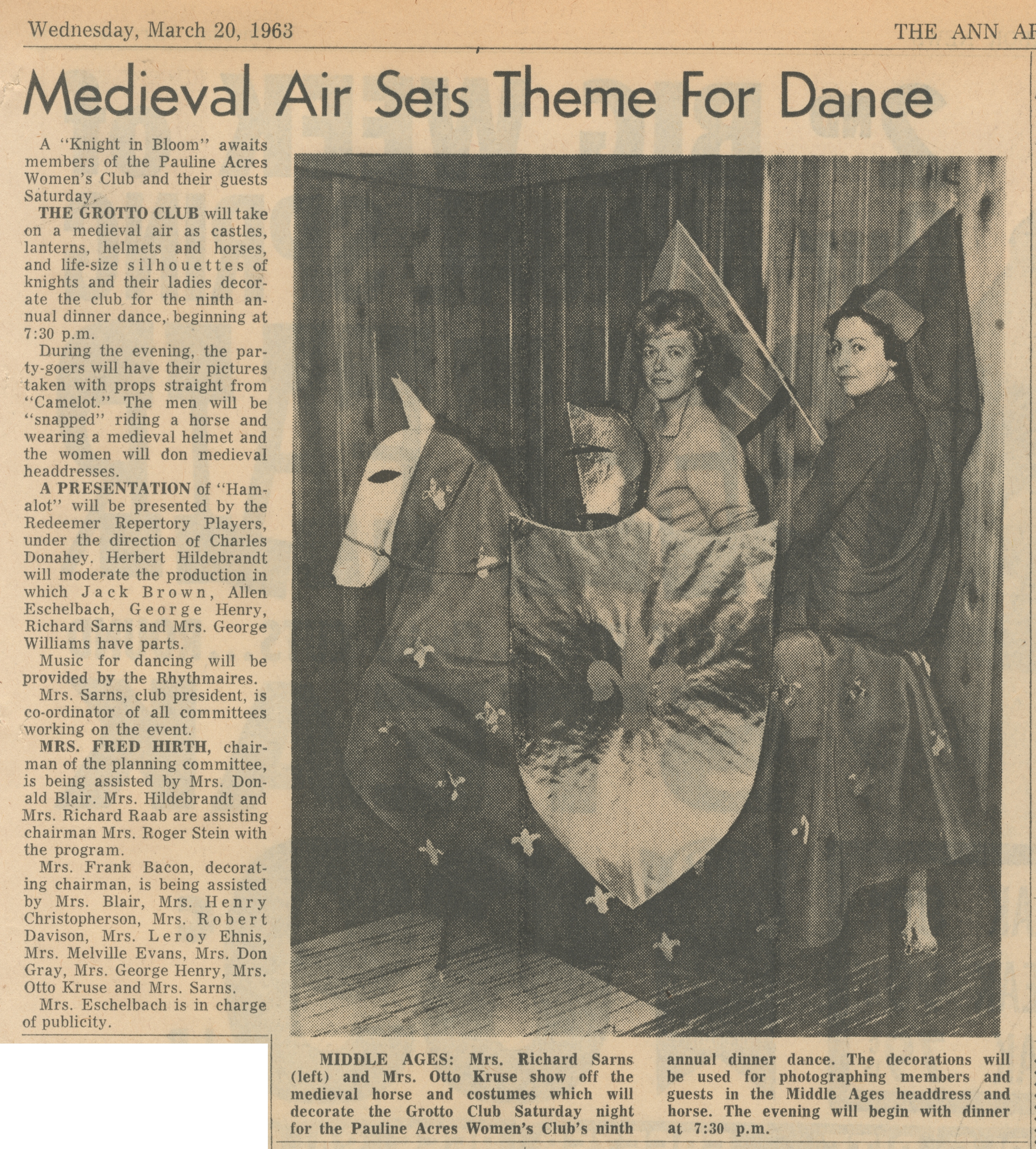 Medieval Air Sets Theme For Dance image