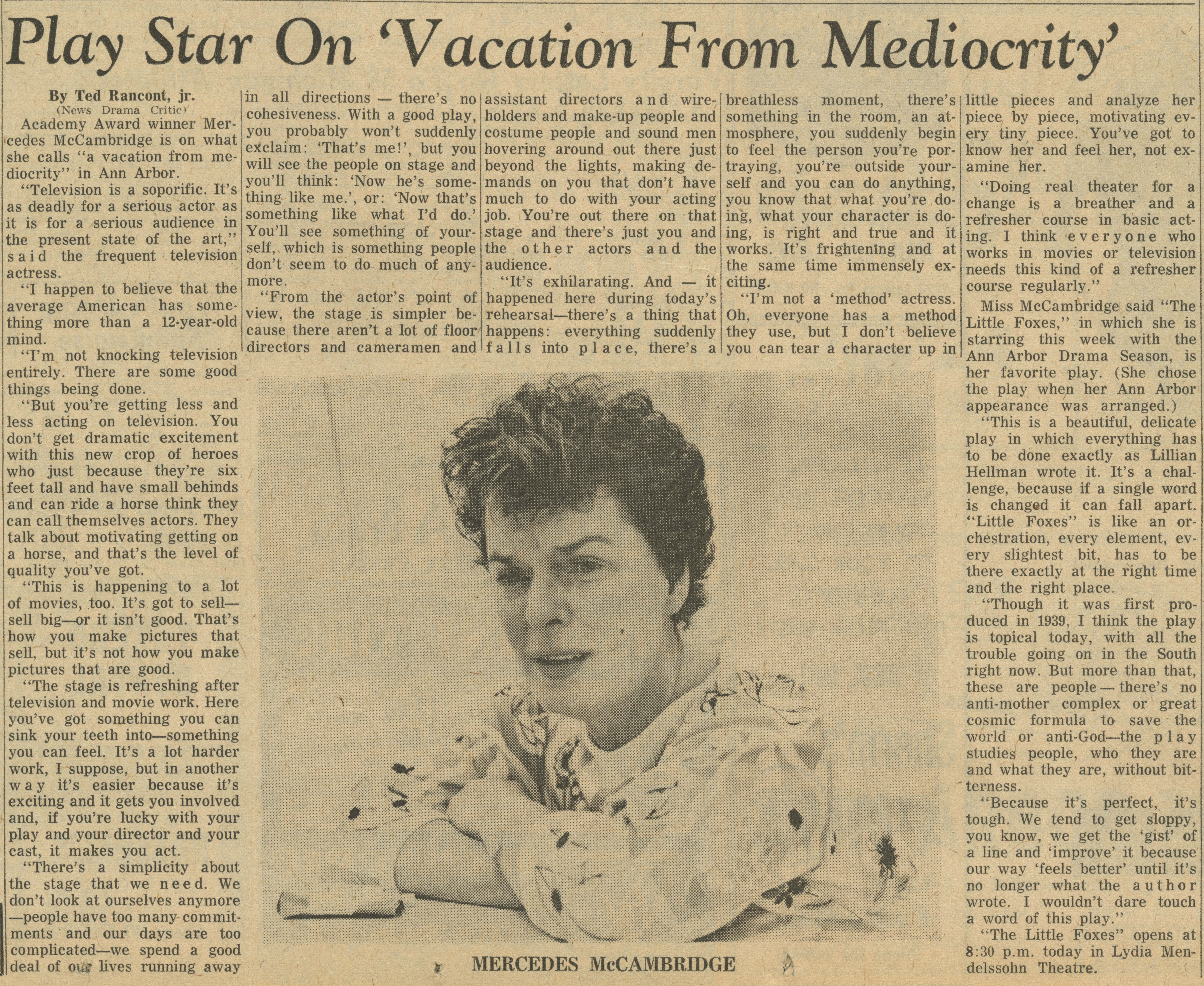 Play Star On 'Vacation From Mediocrity' image