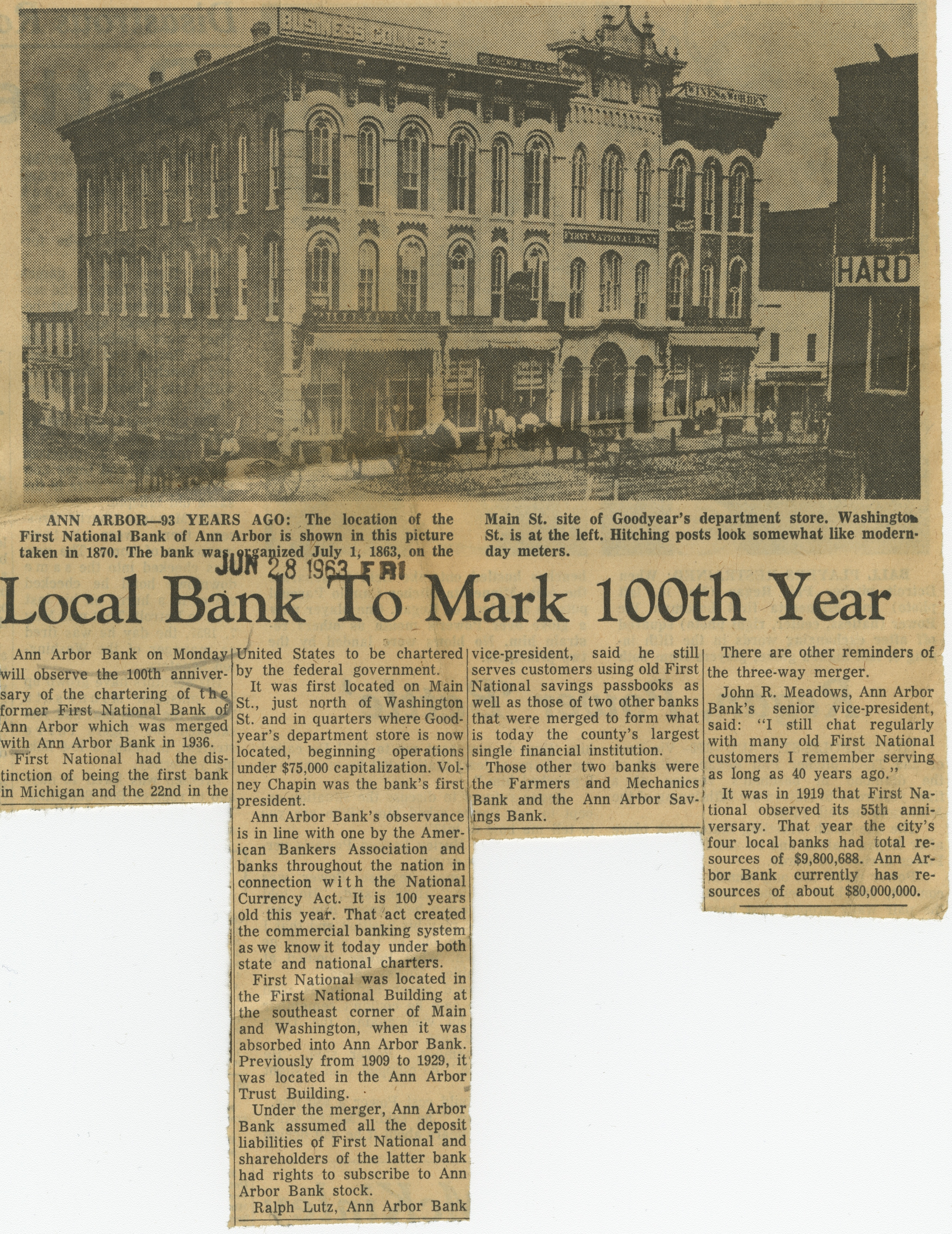 Local Bank To Mark 100th Year image
