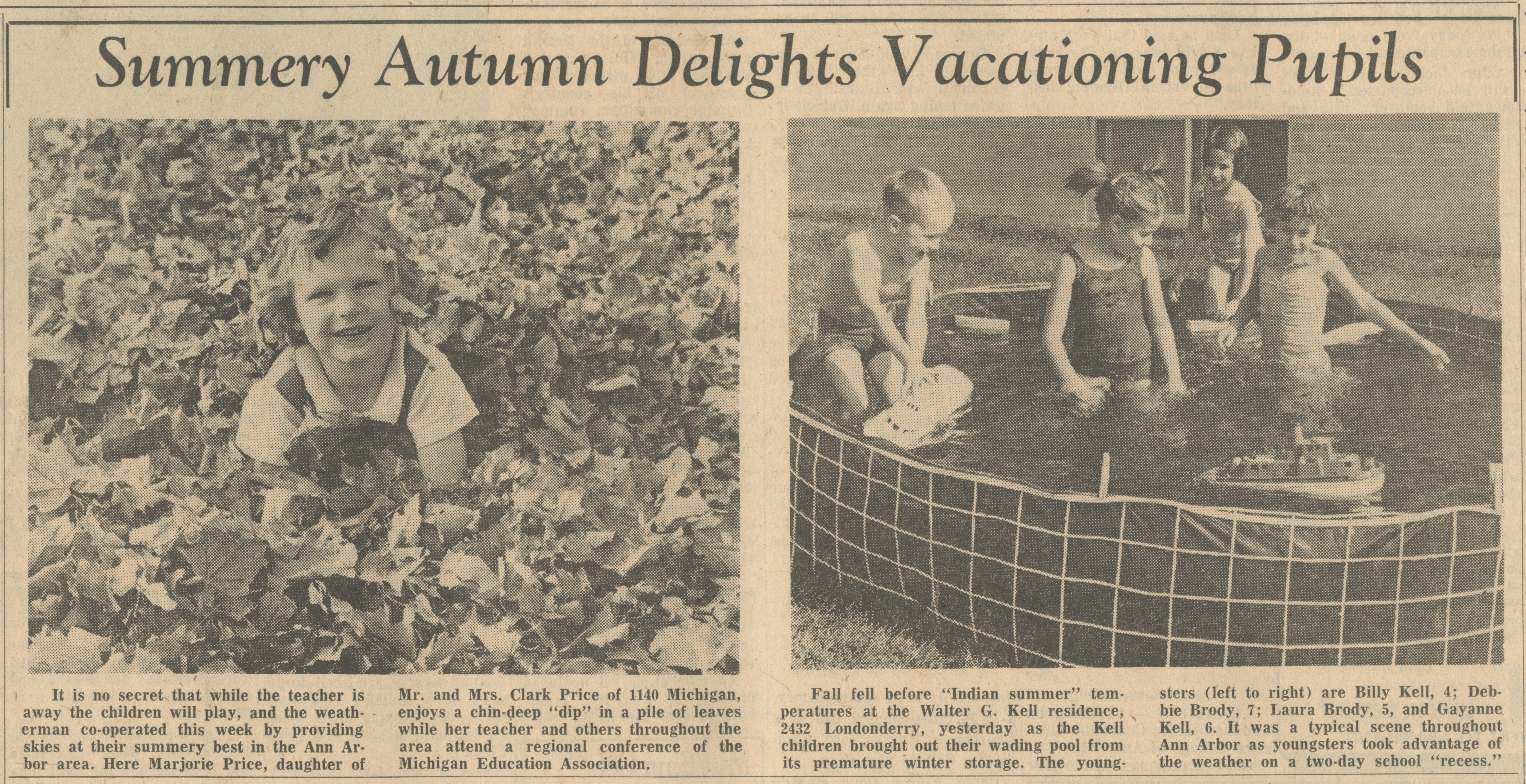 Summery Autumn Delights Vacationing Pupils image
