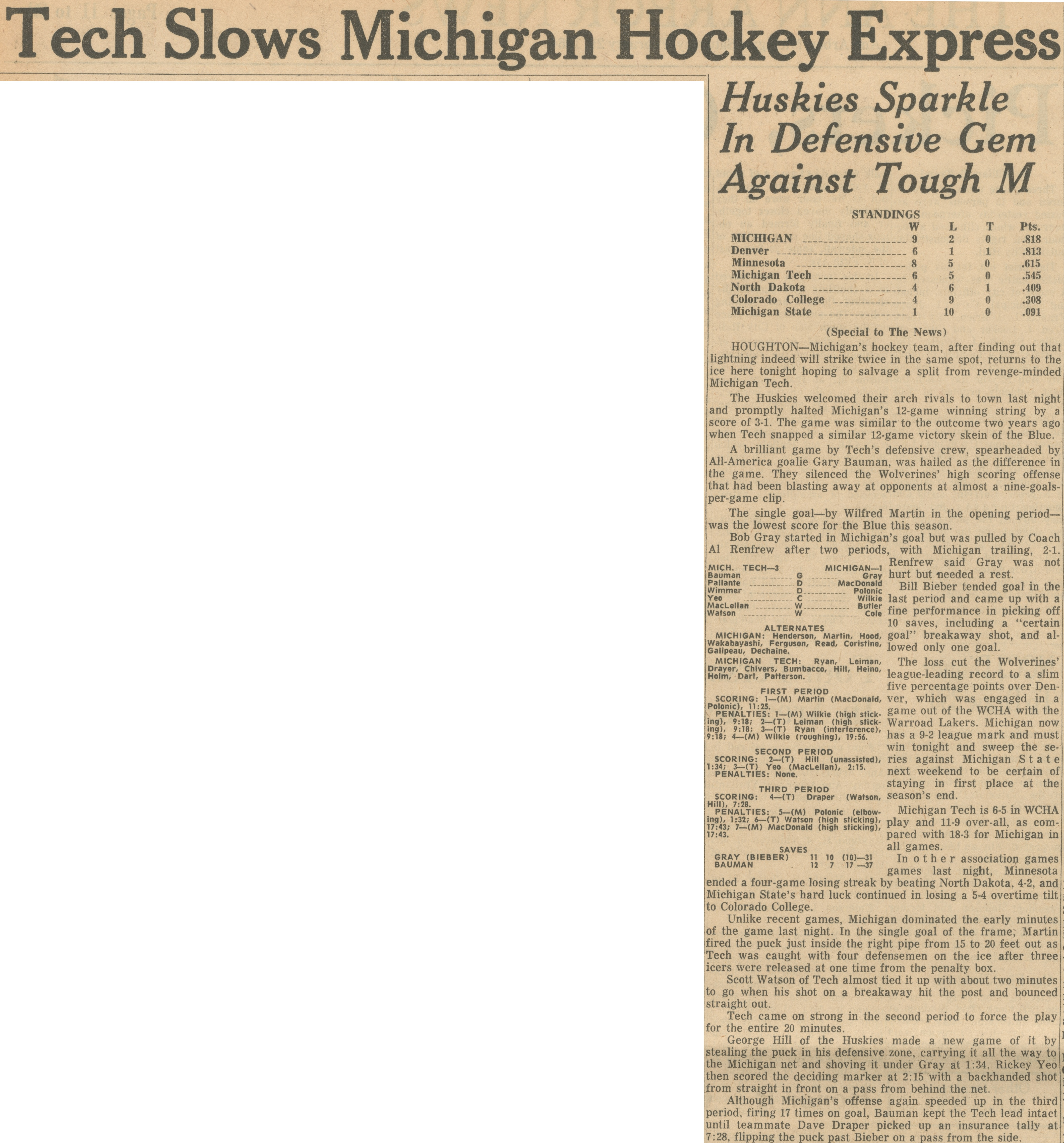 Tech Slow Michigan Hockey Express image