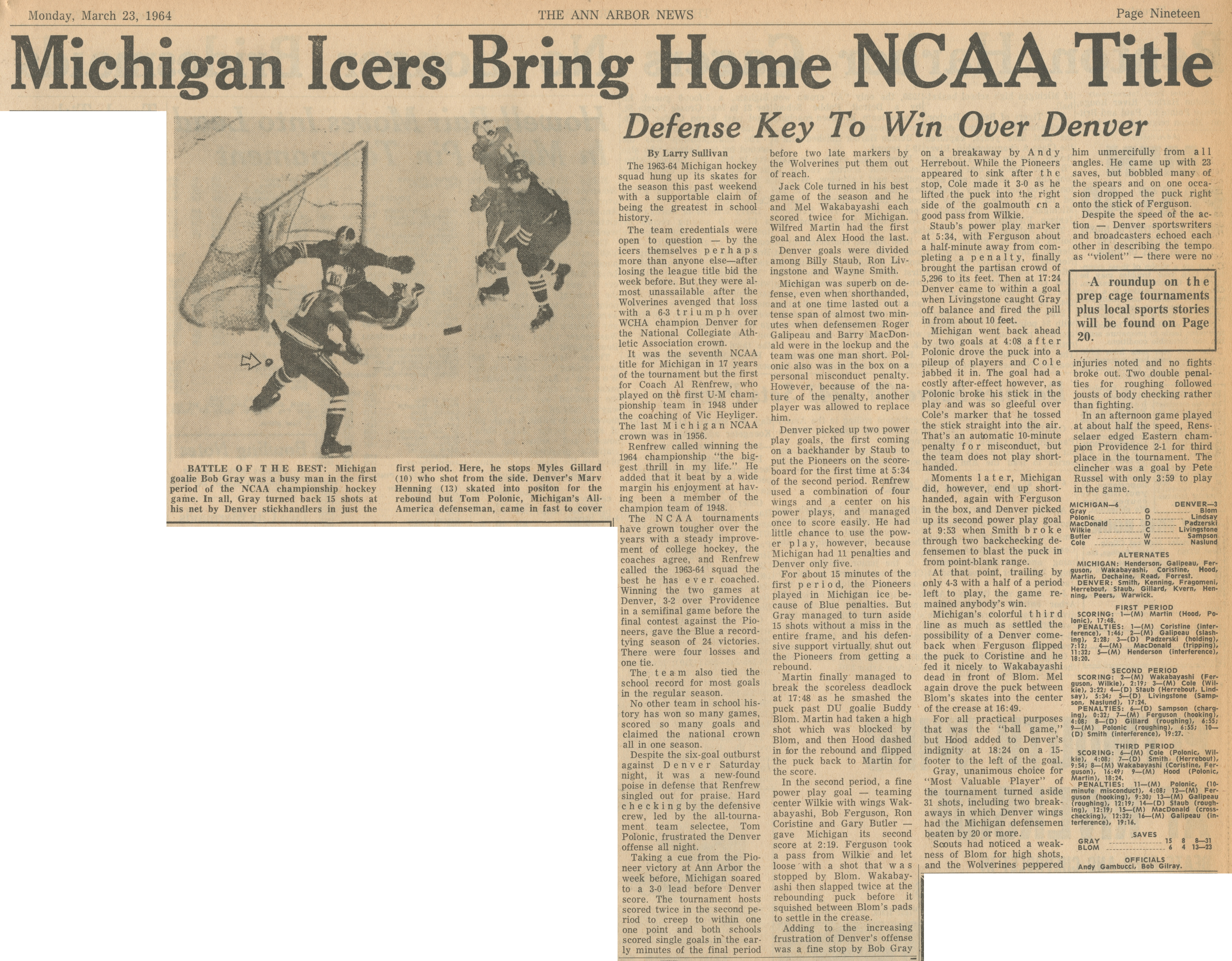 Michigan Icers Bring Home NCAA Title image