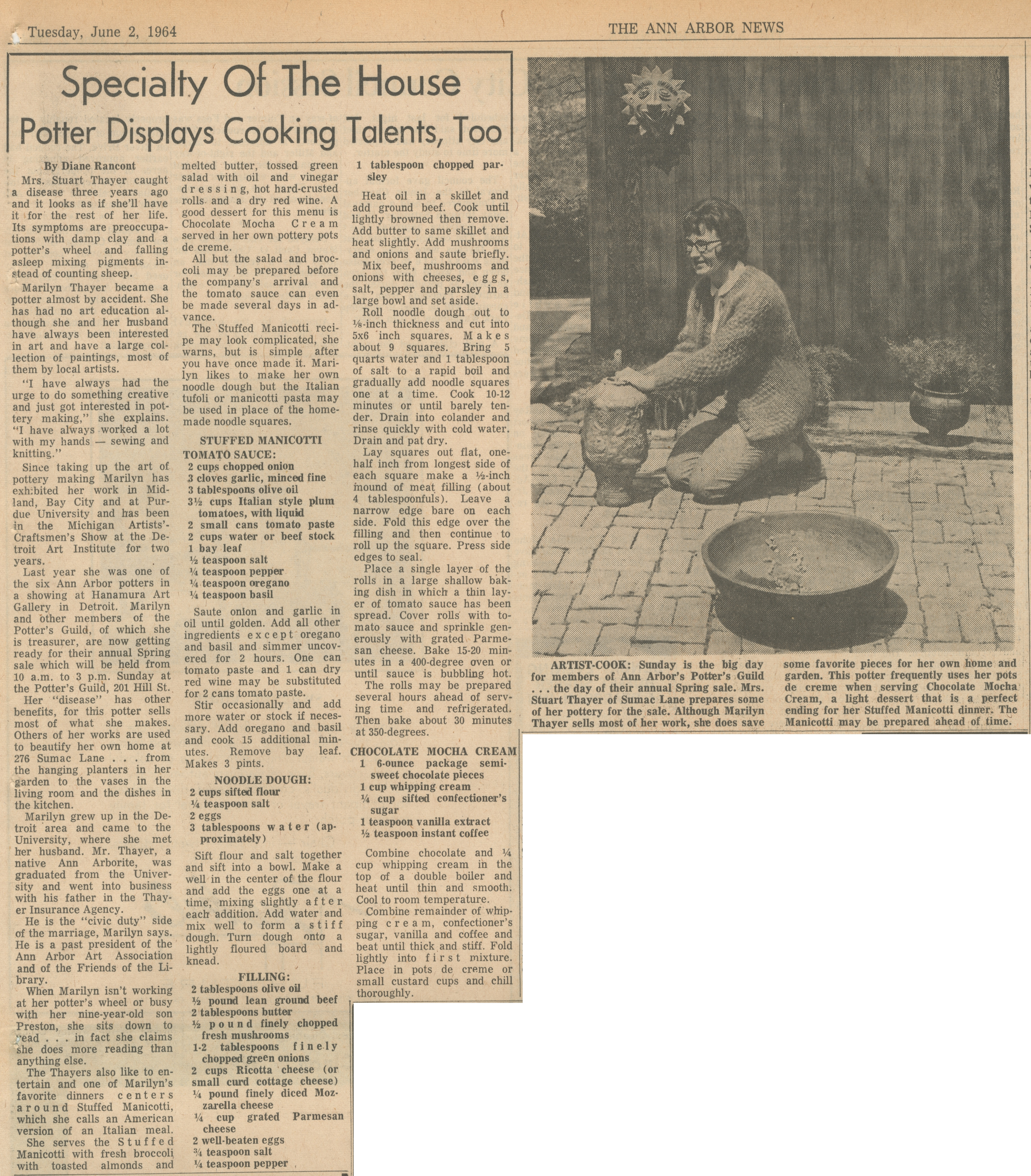 Potter Displays Cooking Talents, Too image
