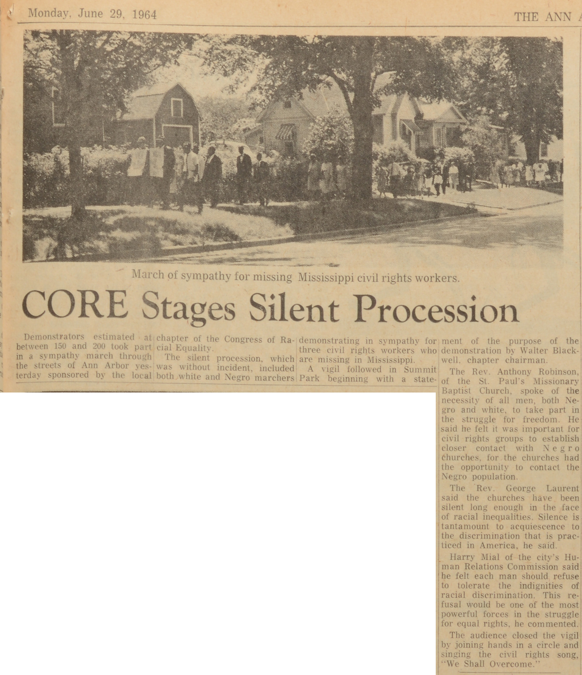 CORE Stages Silent Procession image