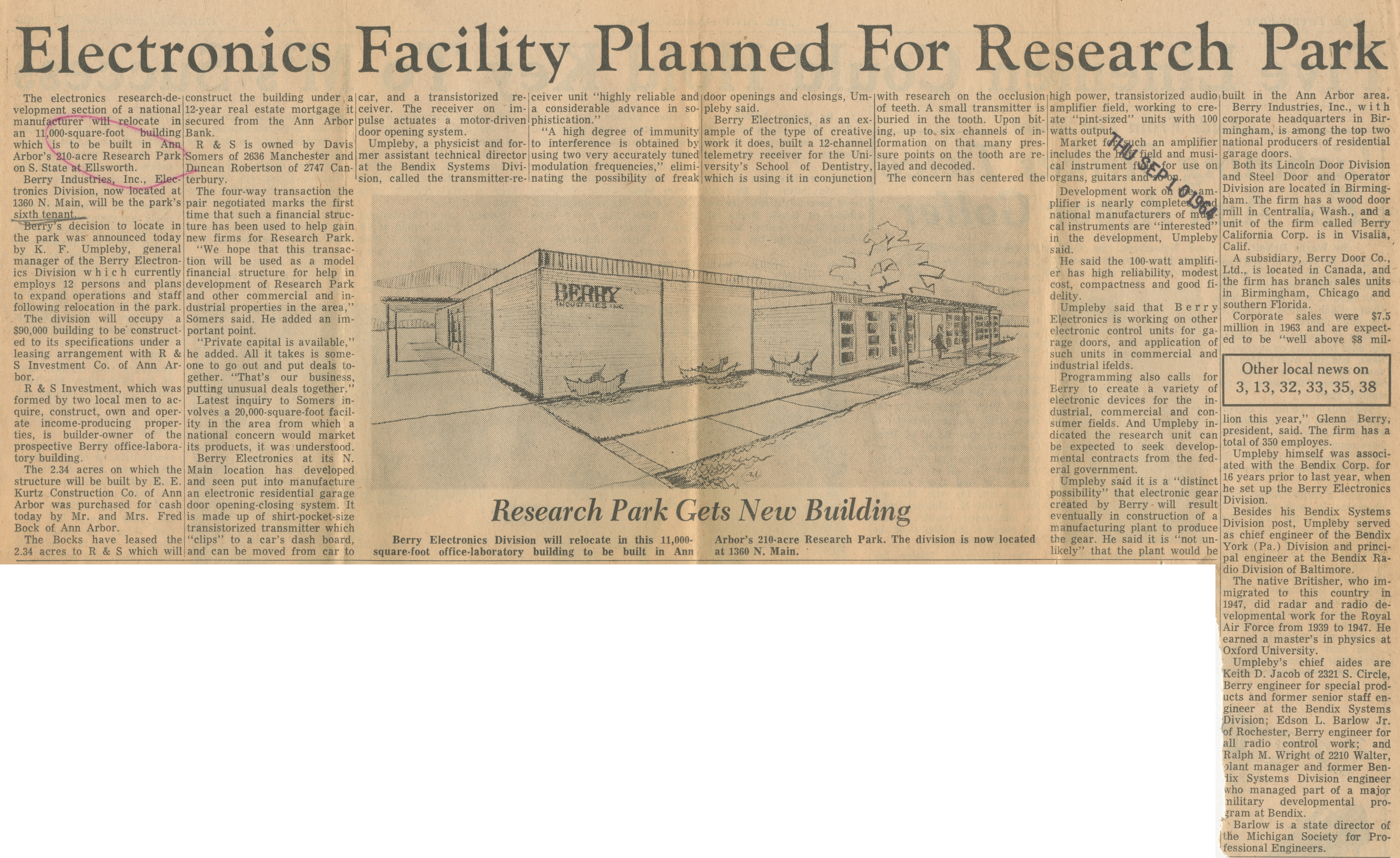 Electronics Facility Planned For Research Park image