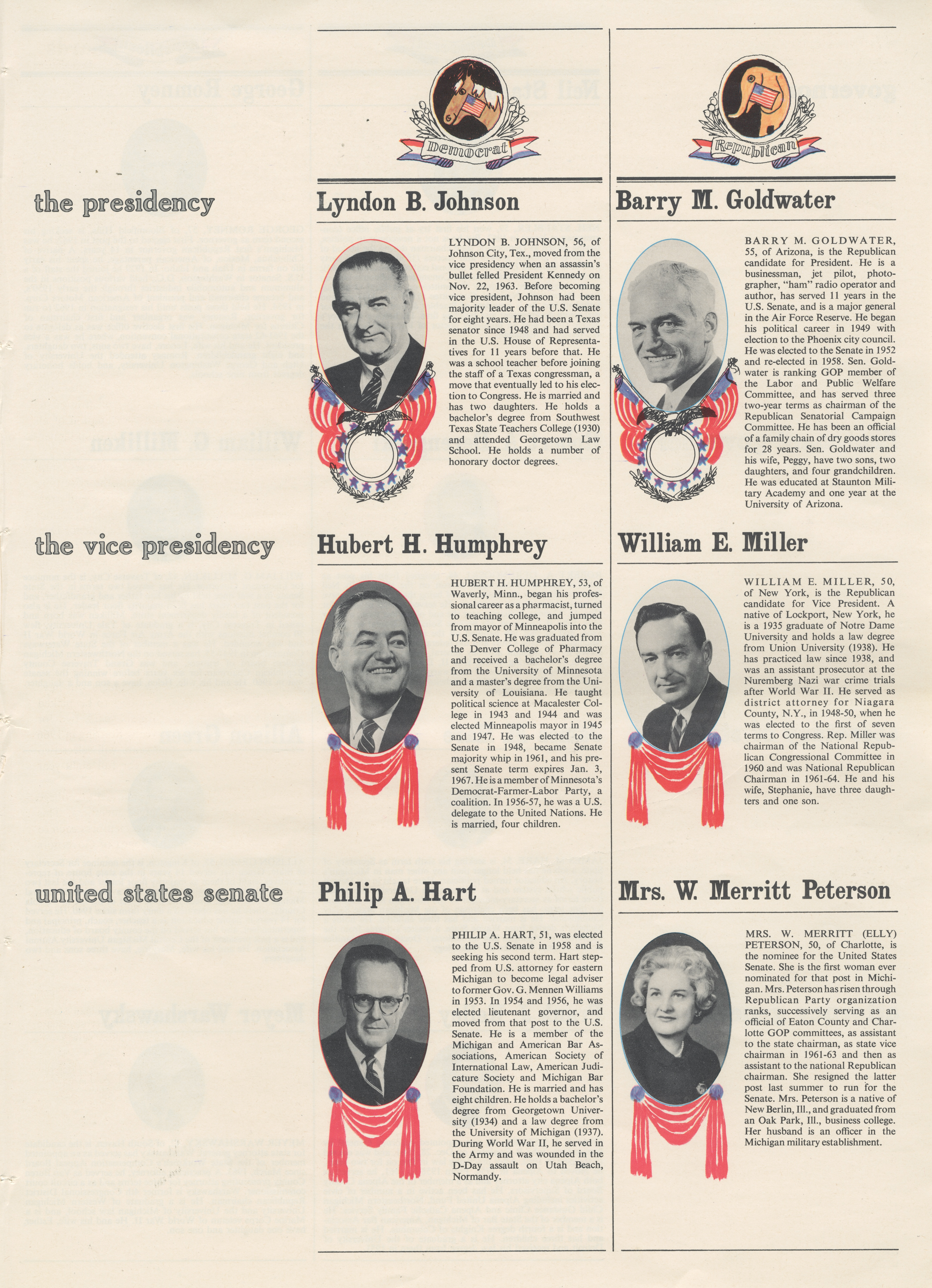 What You Should Know To Make Your Vote Count In 1964 ~ The Presidency, The Vice Presidency, United States Senate image
