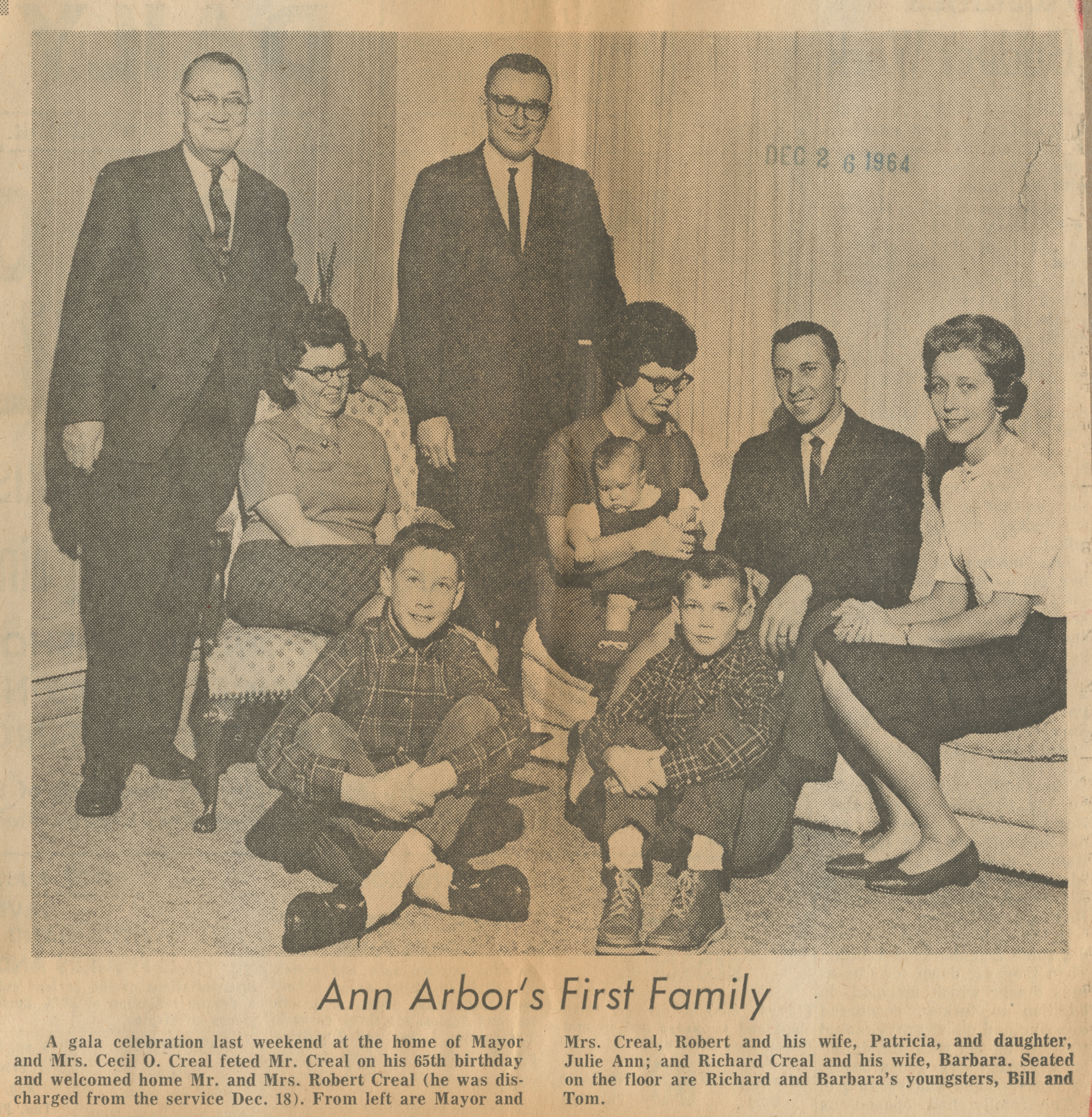 Ann Arbor's First Family image