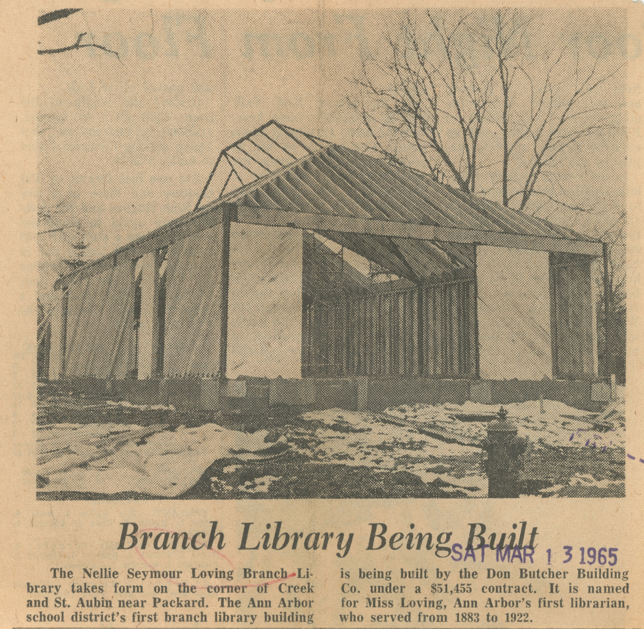 Branch Library Being Built image