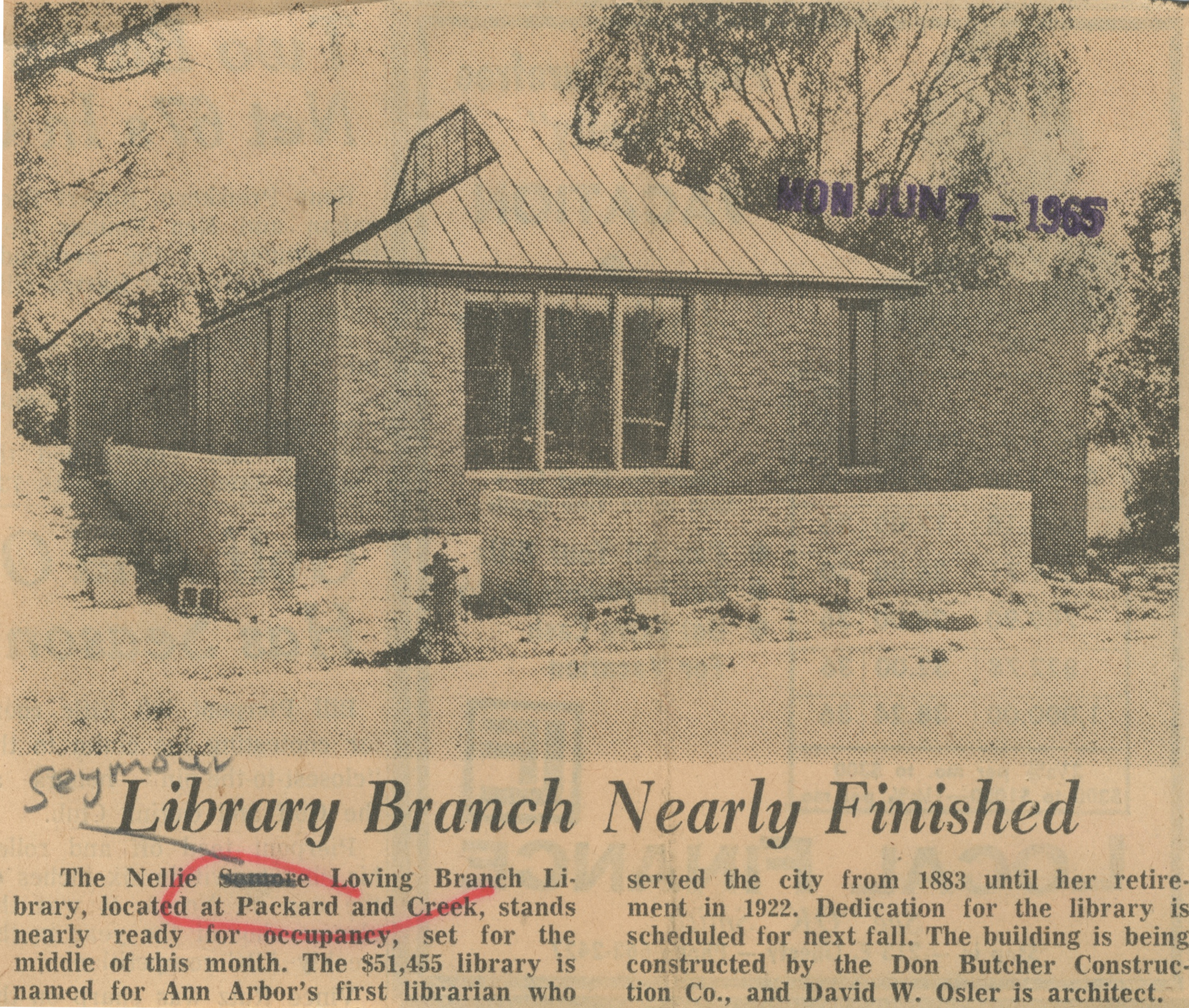 Library Branch Nearly Finished image