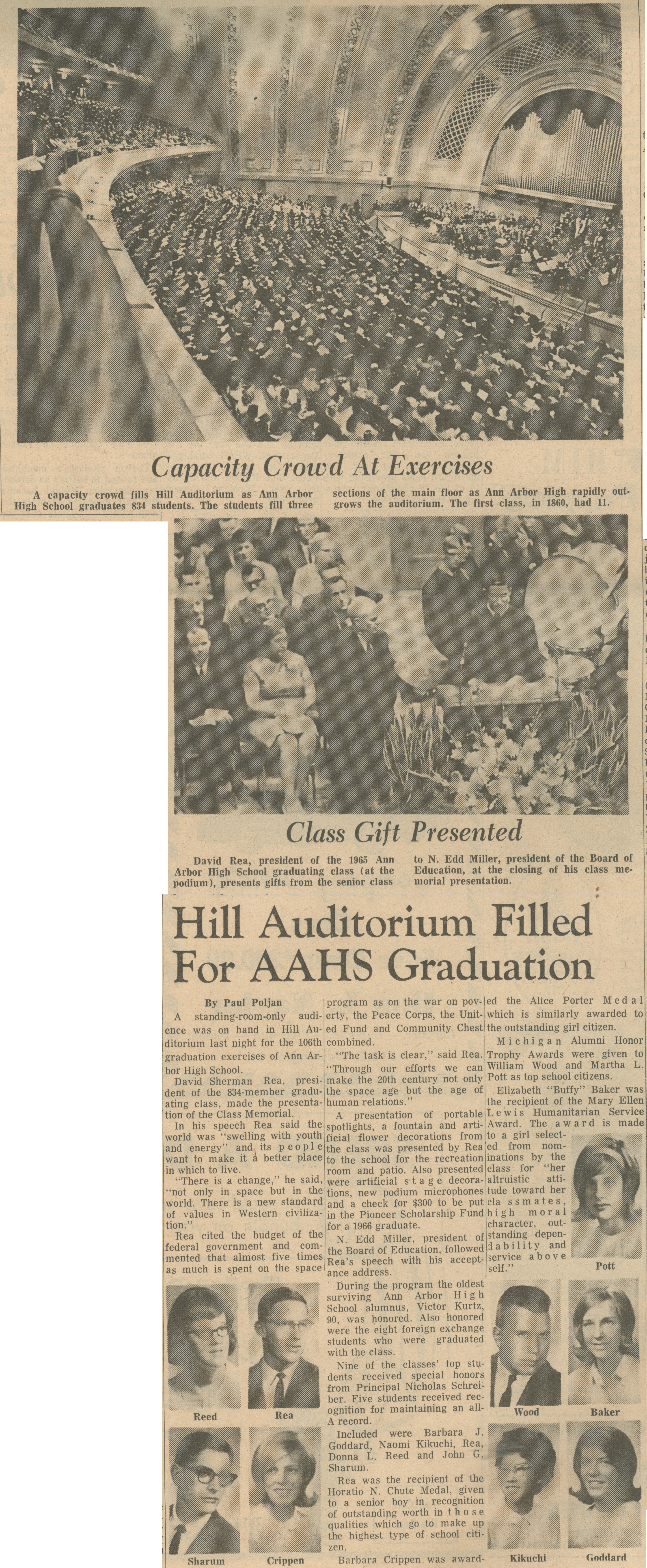 Hill Auditorium Filled For AAHS Graduation image