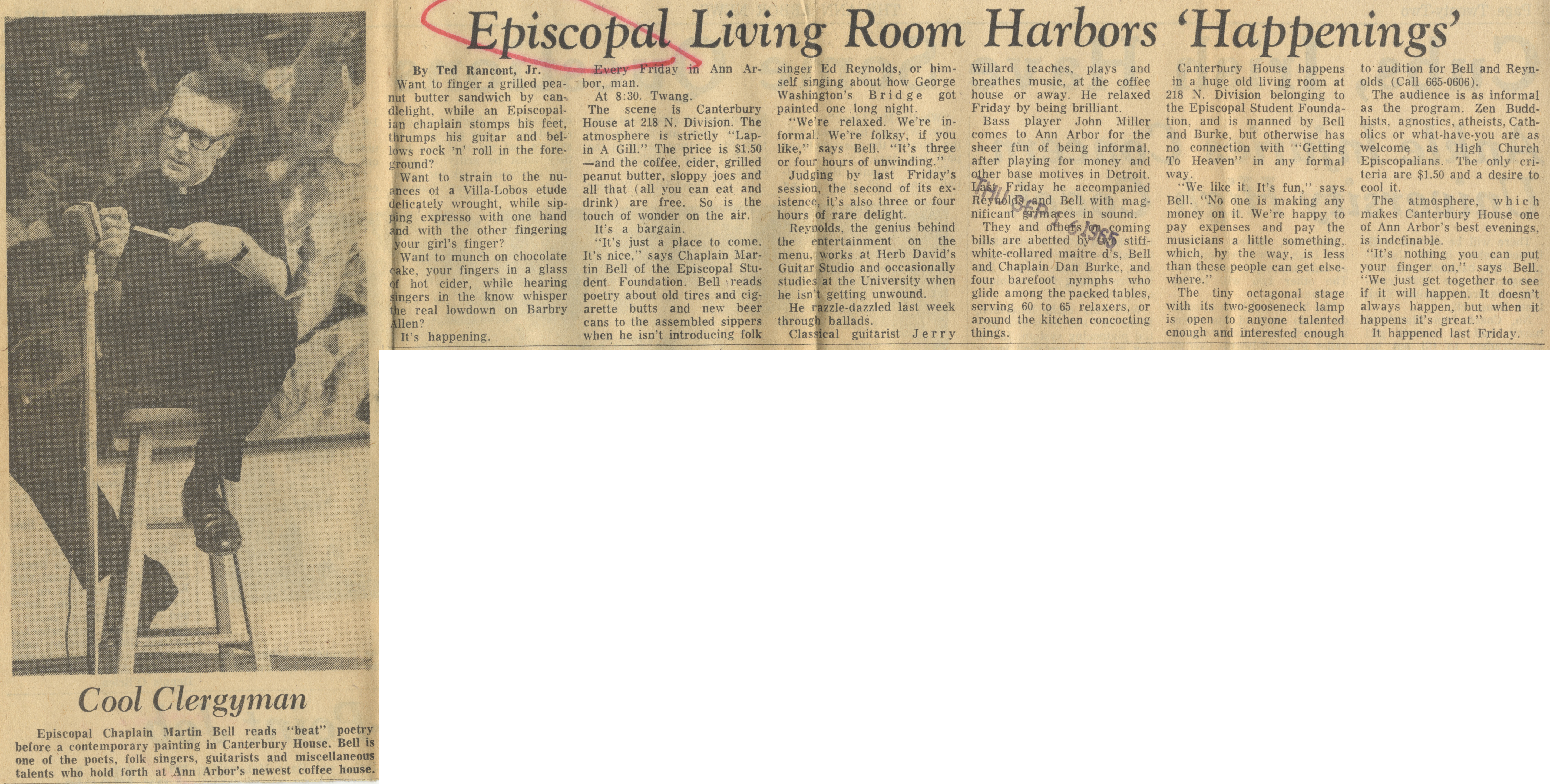Episcopal Living Room Harbors 'Happenings' image