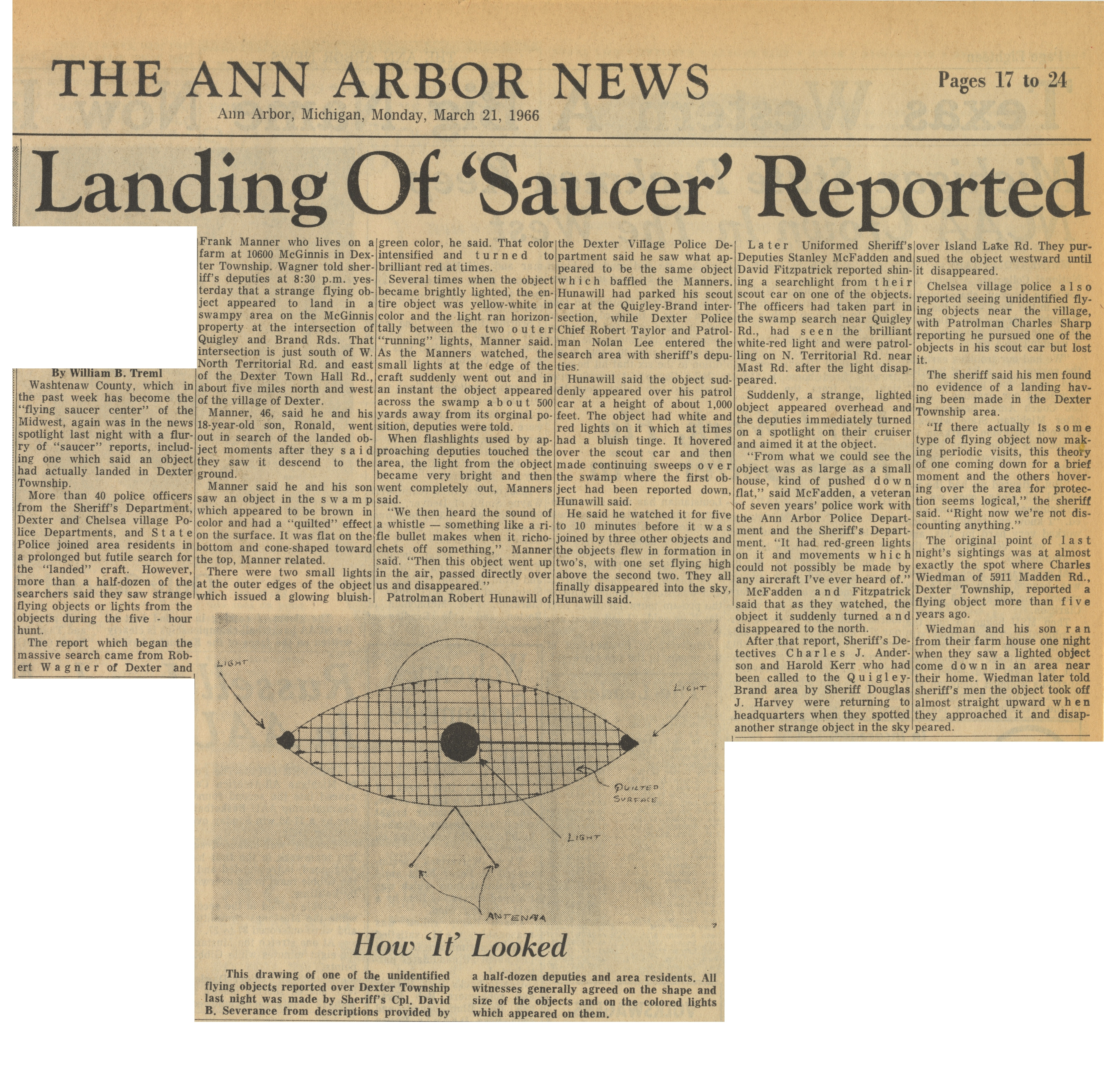 "Landing of ""Saucer"" Reported image"
