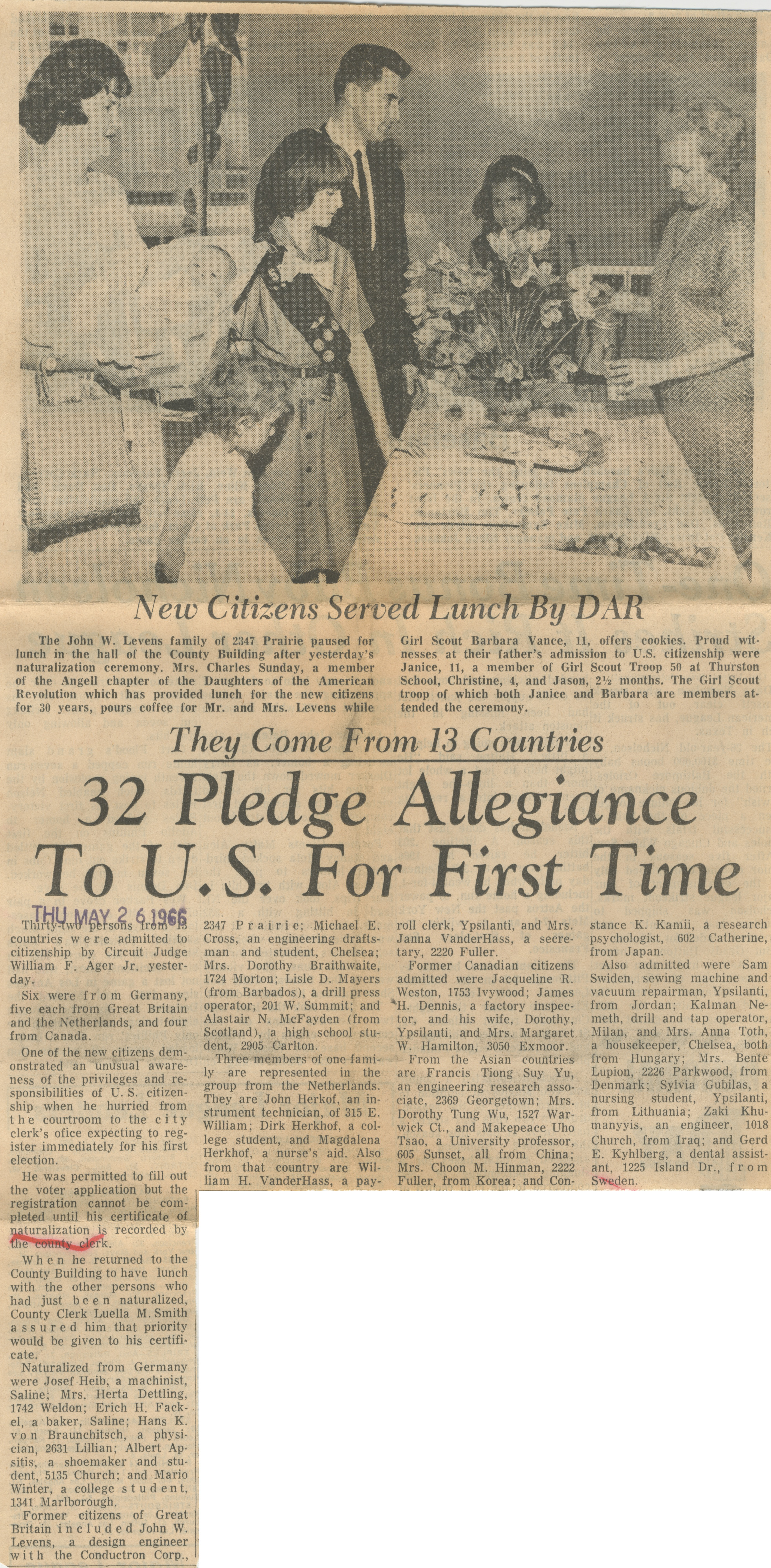 32 Pledge Allegiance To U.S. For First Time image