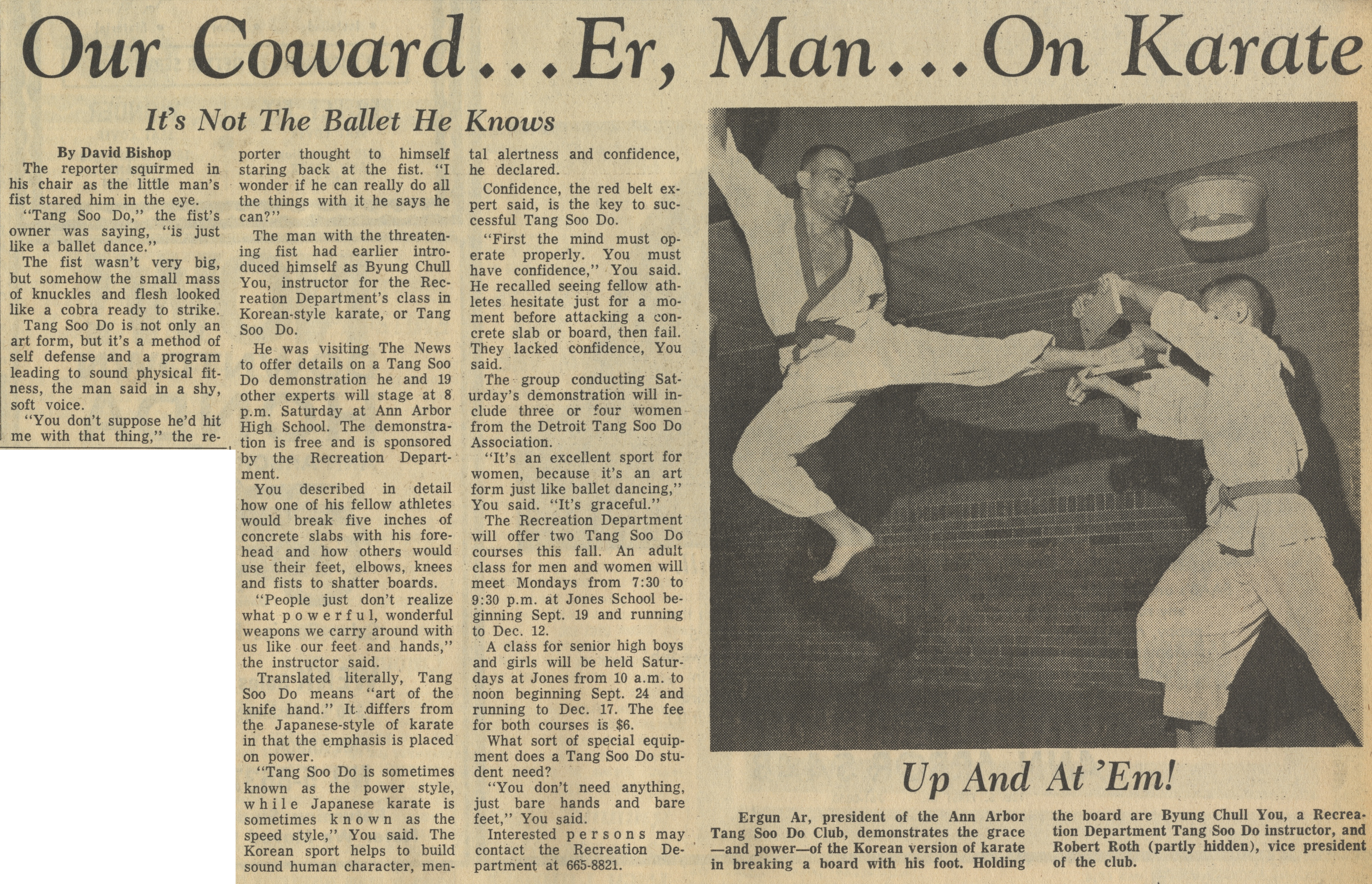 Our Coward...Er, Man....On Karate image