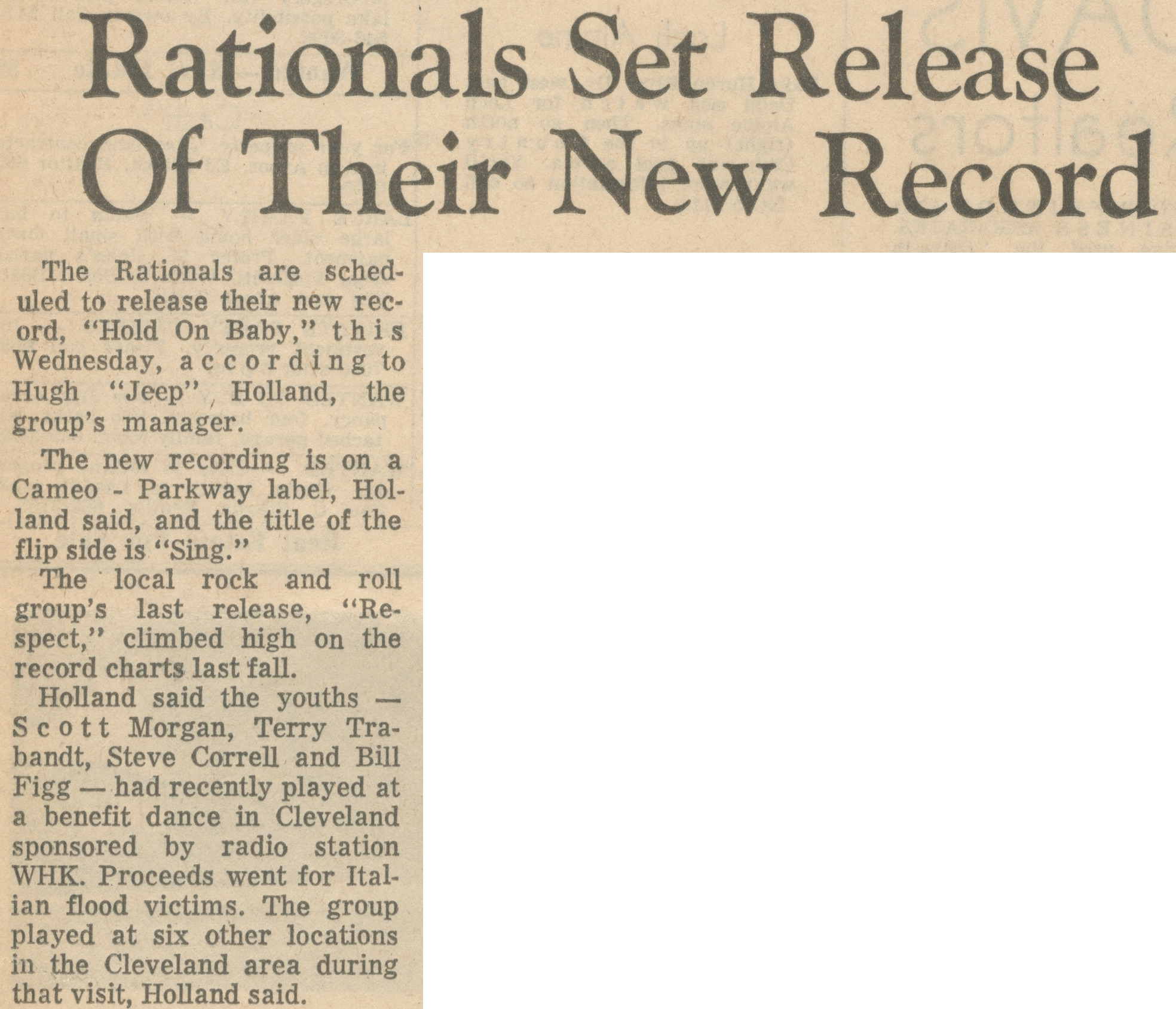 Rationals Set Release Of Their New Record image
