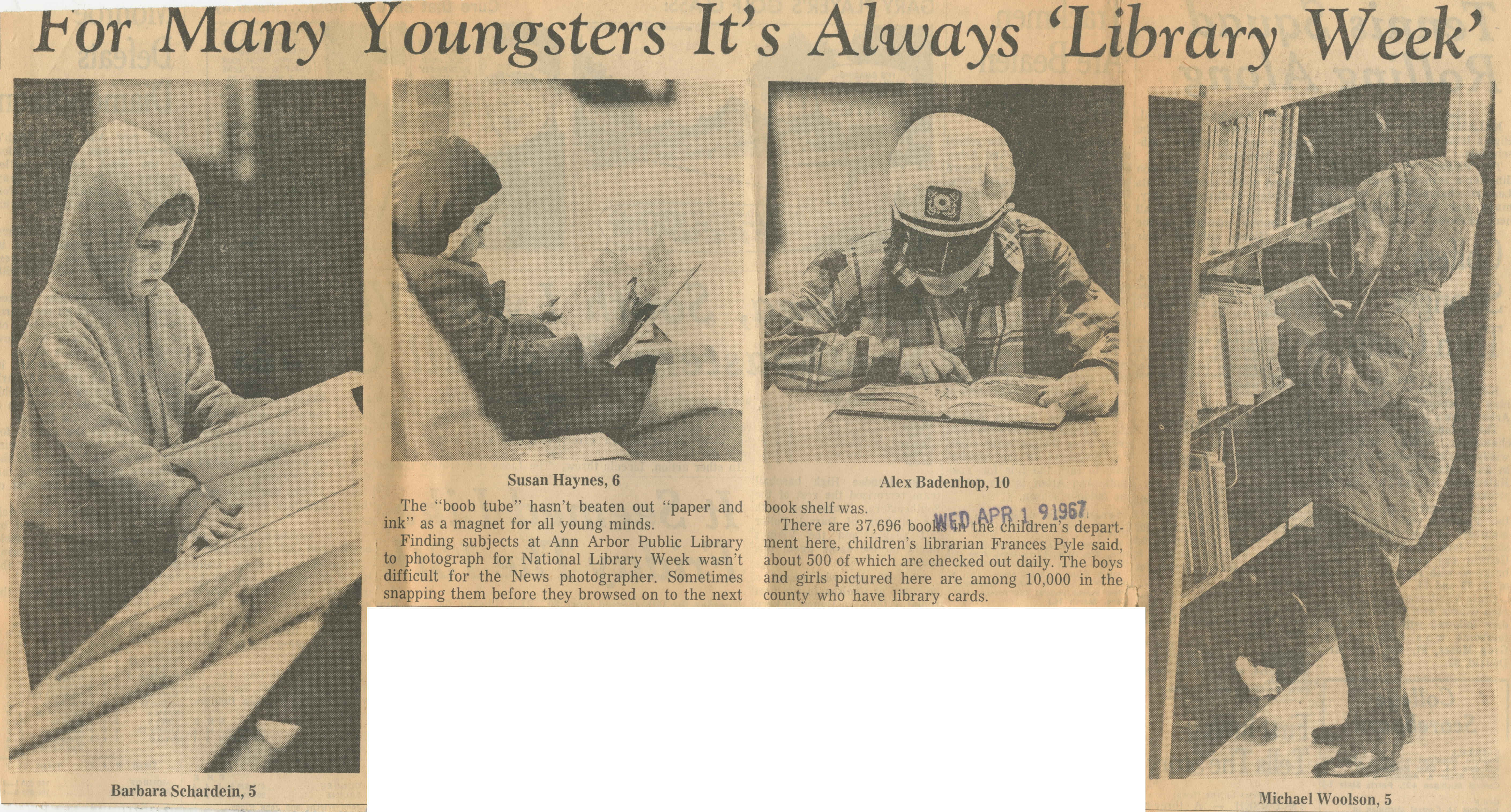 "For Many Youngsters It's Always ""Library Week"" image"