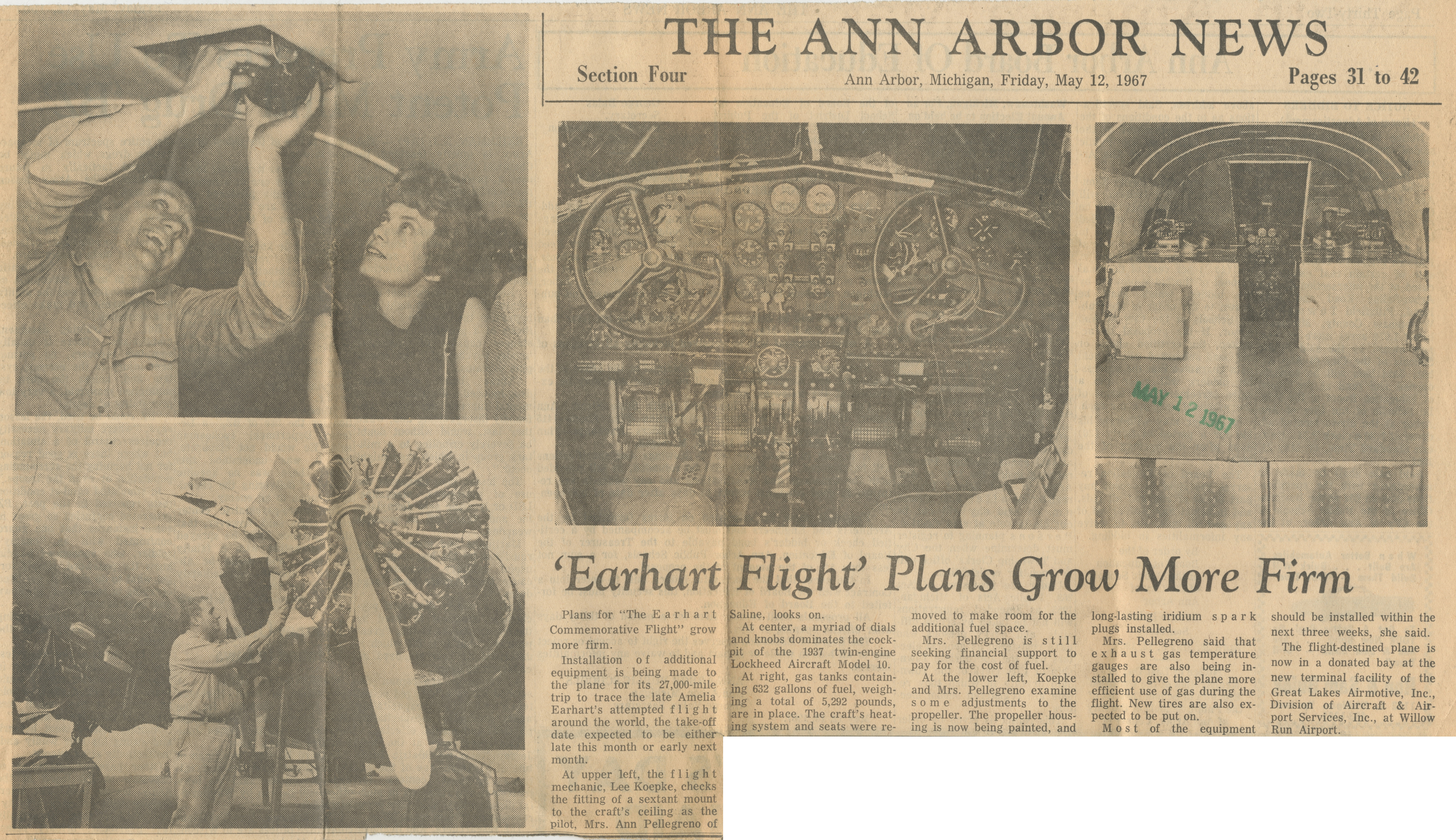 'Earhart Flight' Plans Grow More Firm image