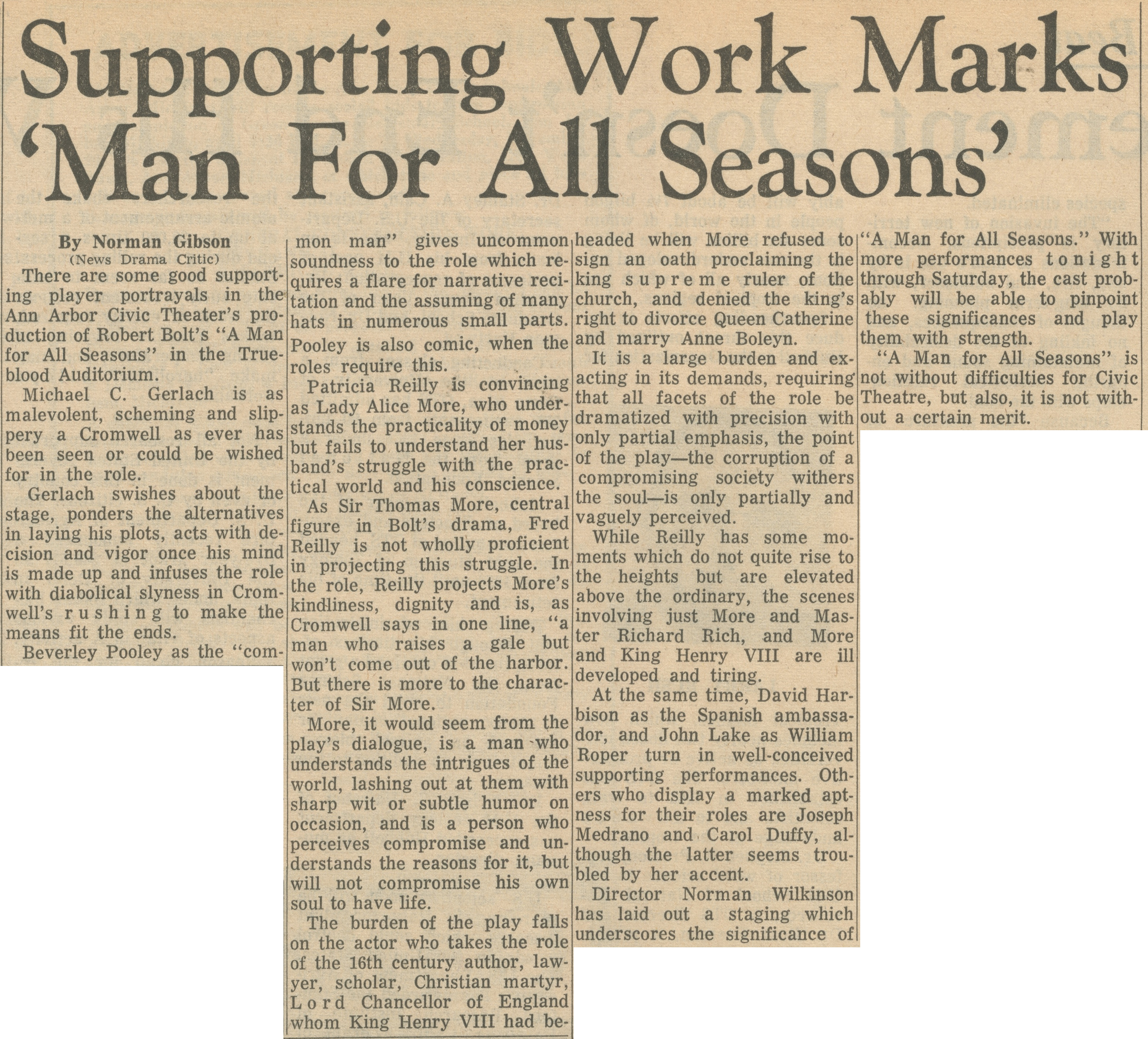 Supporting Work Marks 'Man For All Seasons' image