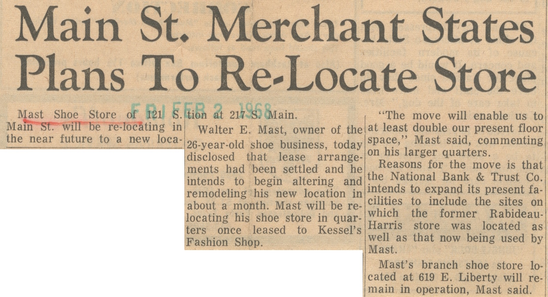 Main St. Merchant States Plans To Re-Locate Store image
