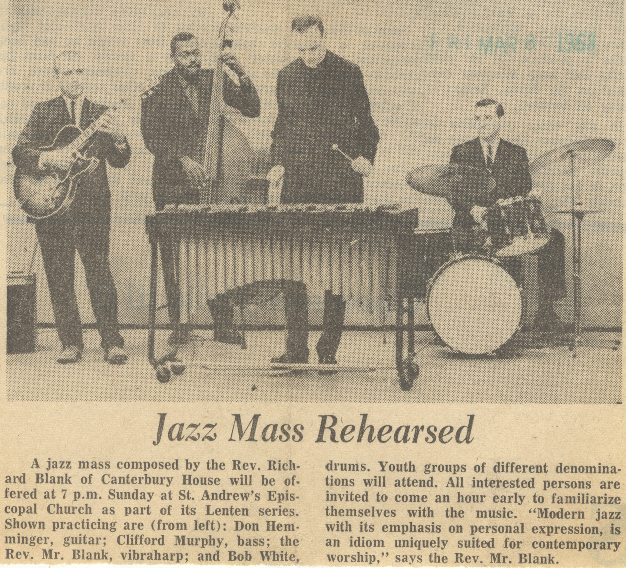 Jazz Mass Rehearsed image