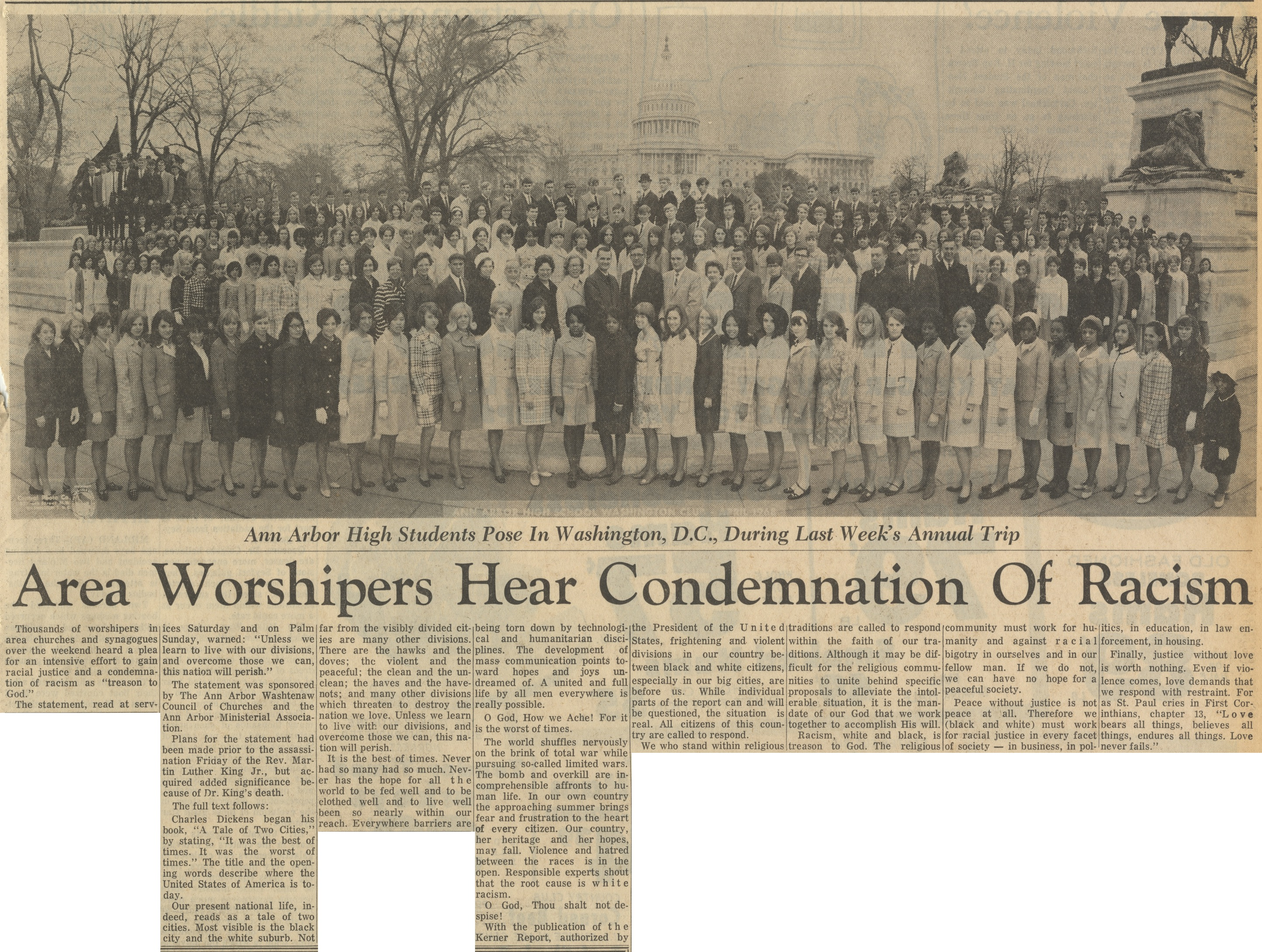 Area Worshipers Hear Condemnation Of Racism image
