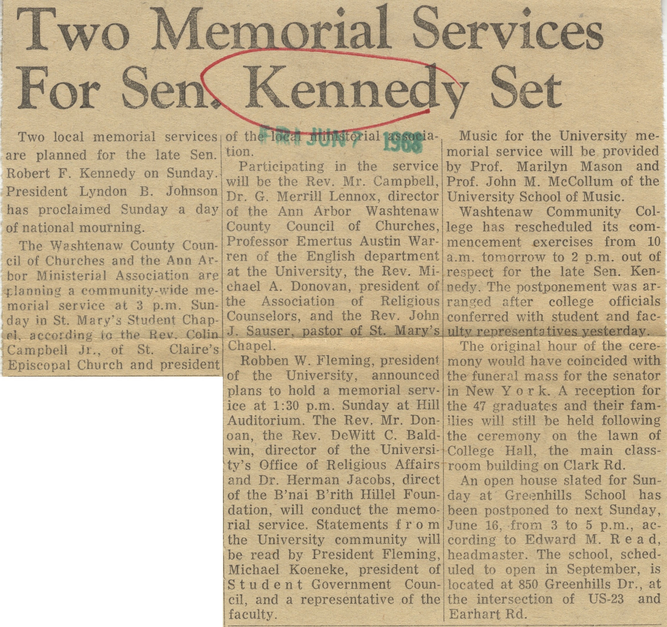 Two Memorial Services For Sen. Kennedy Set image