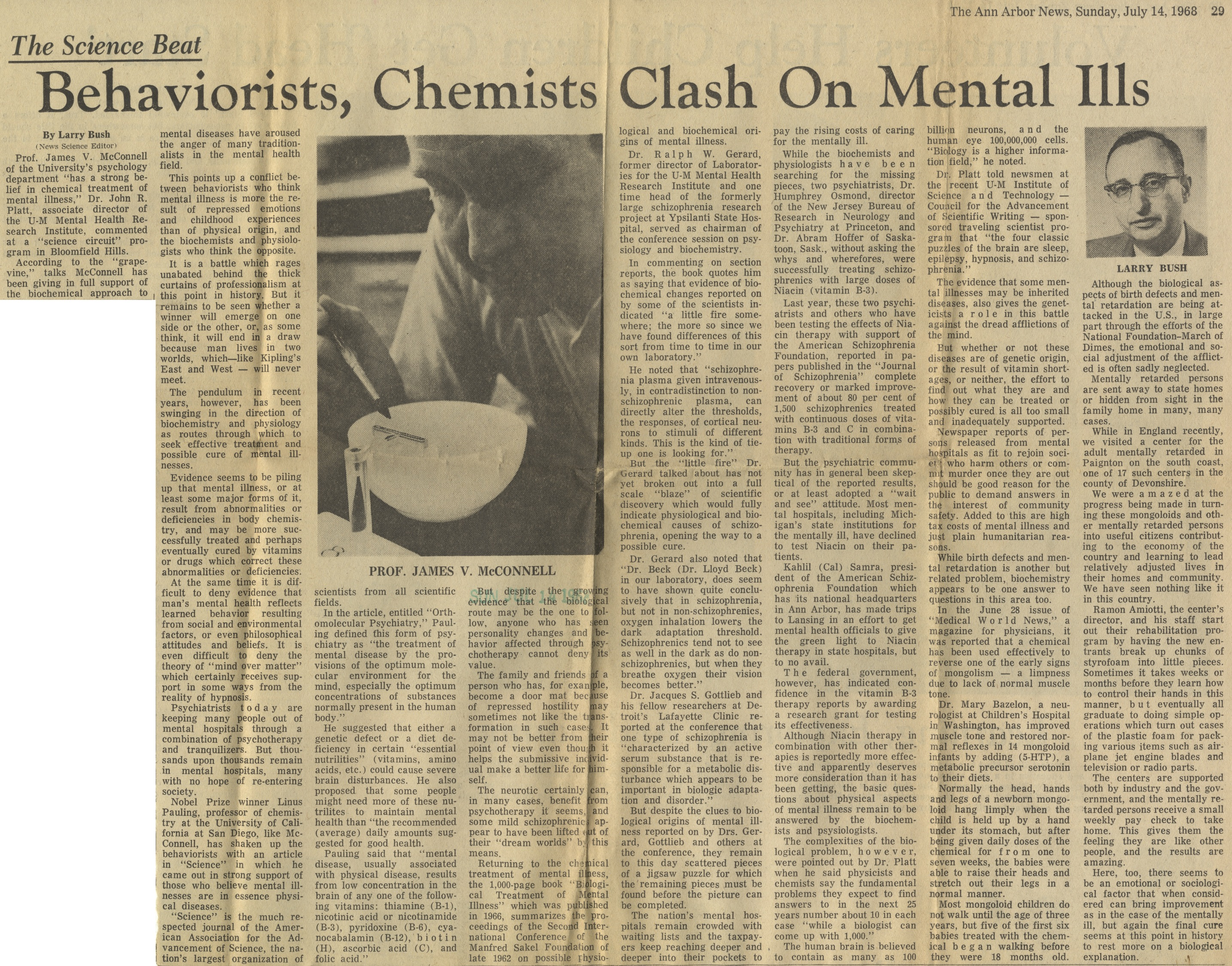 Behaviorists, Chemists Clash On Mental Ills image