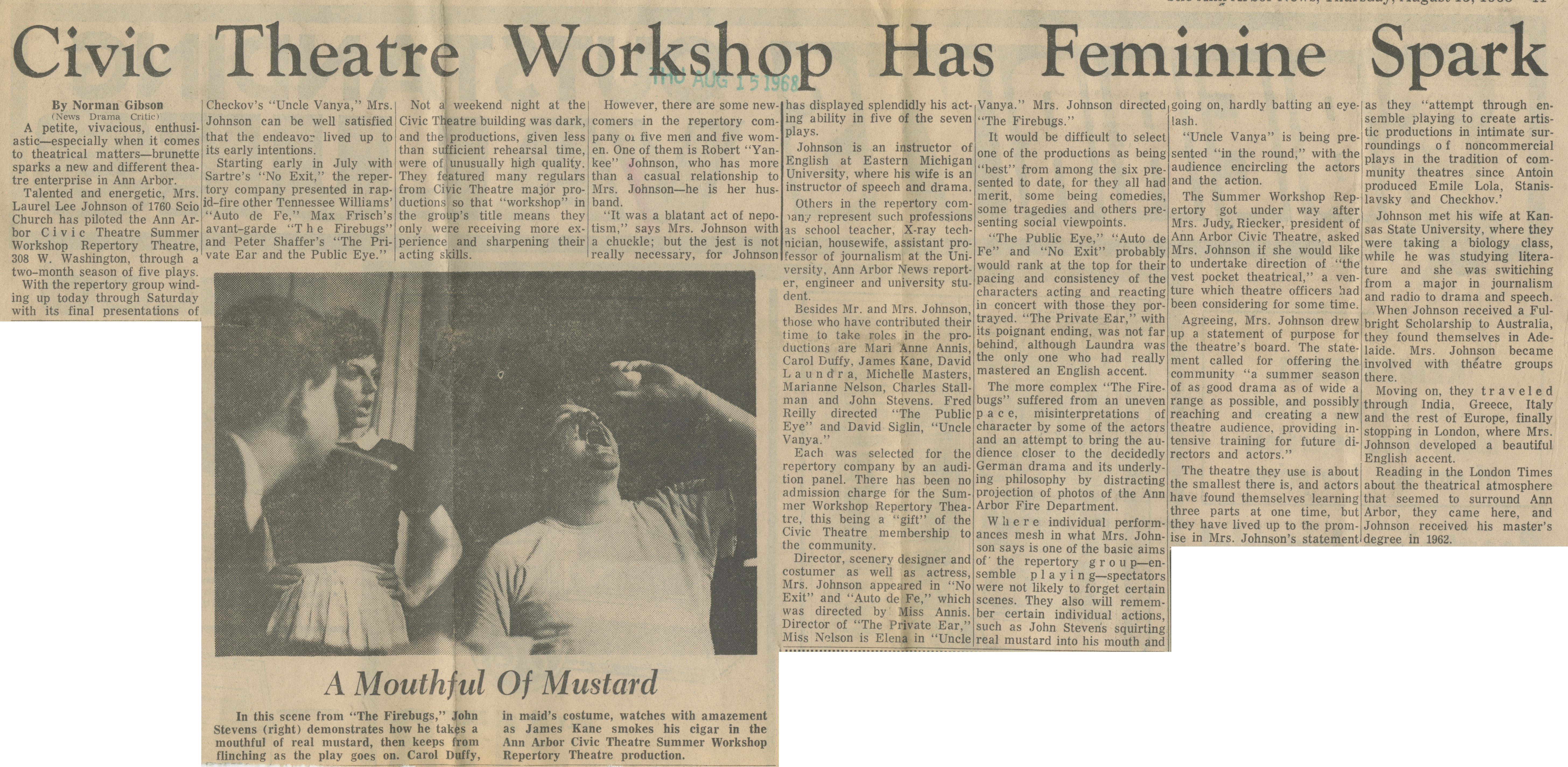 Civic Theatre Workshop Has Feminine Spark image