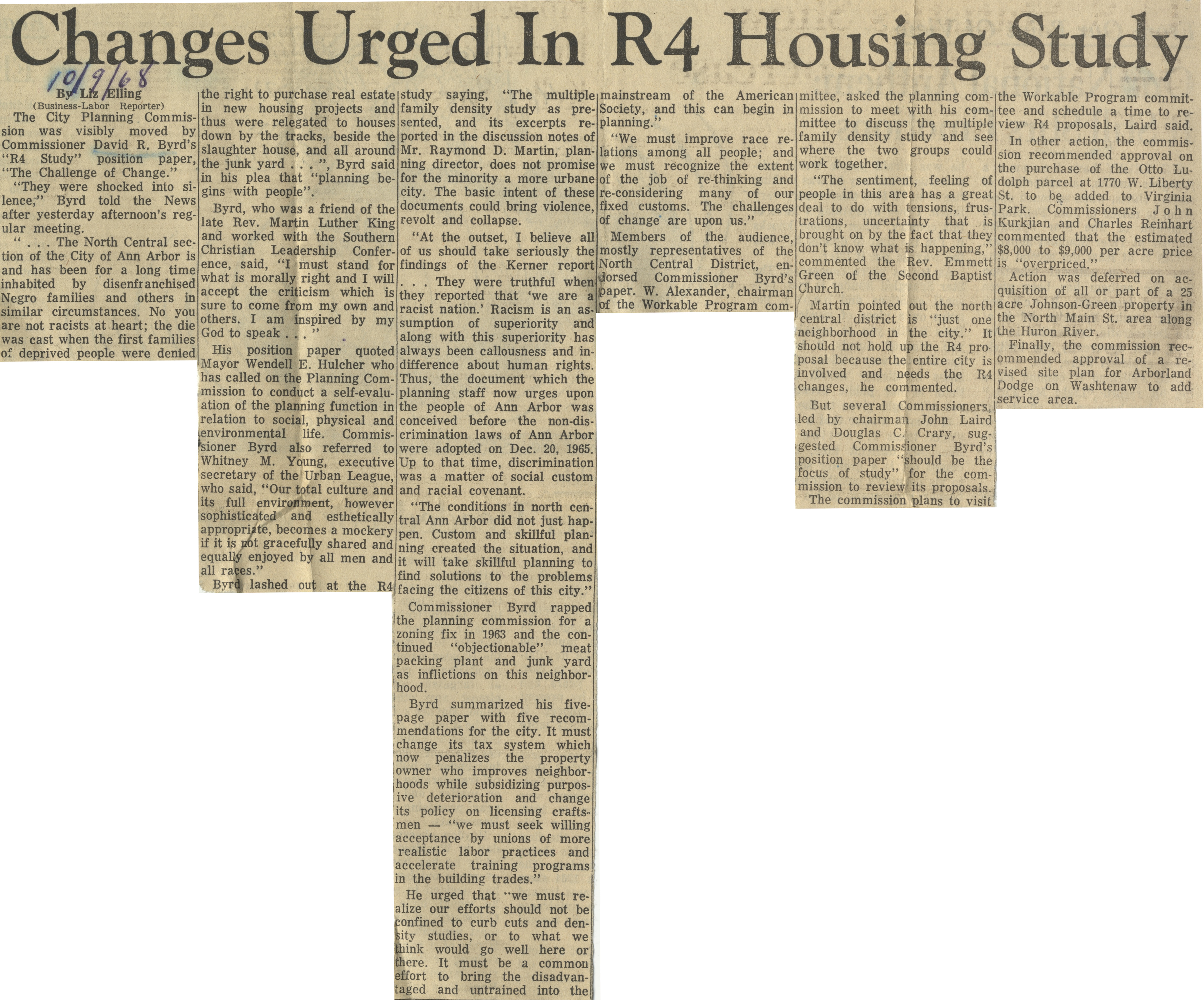 Changes Urged in R4 Housing Study image