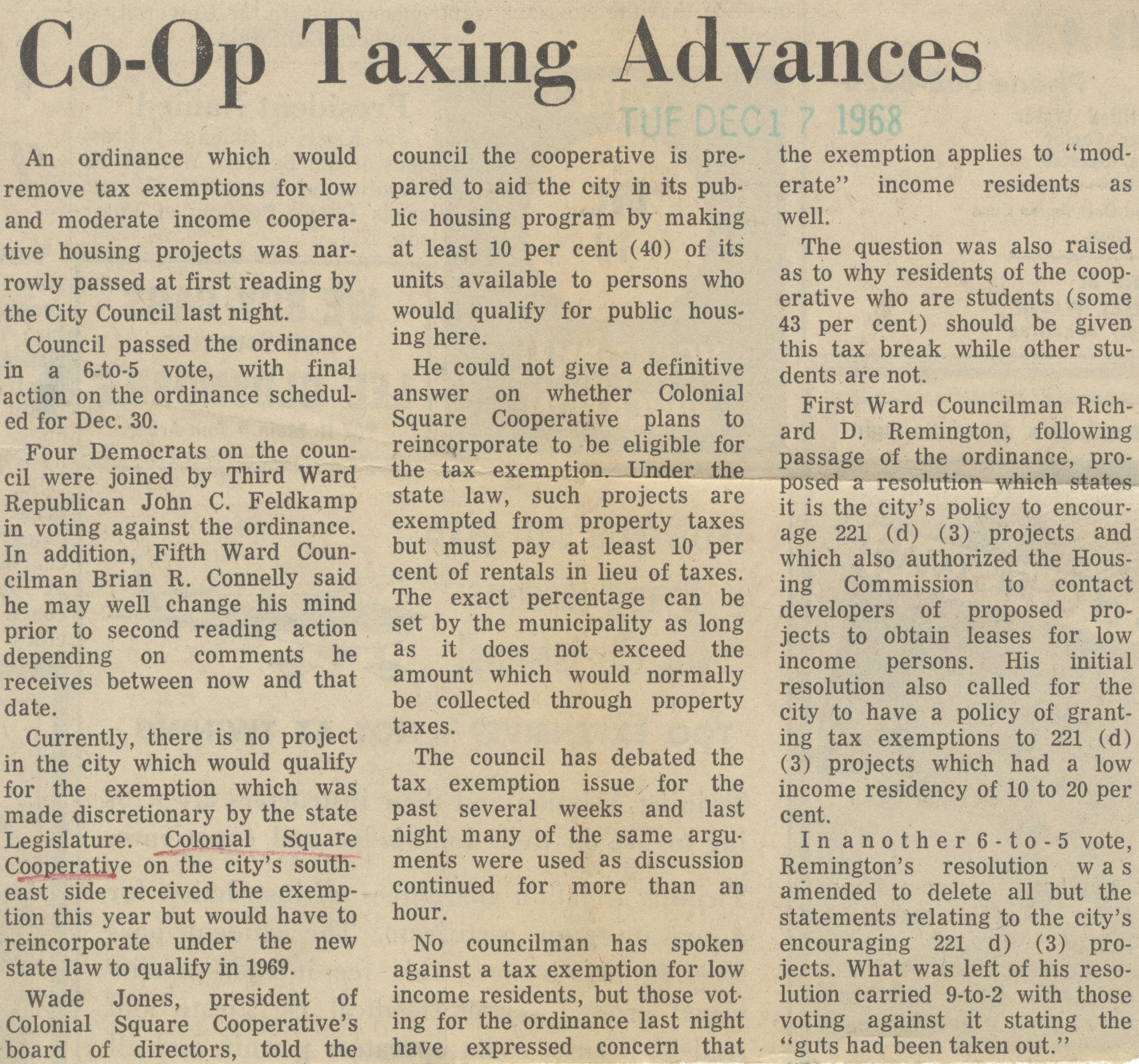 Co-Op Taxing Advances image