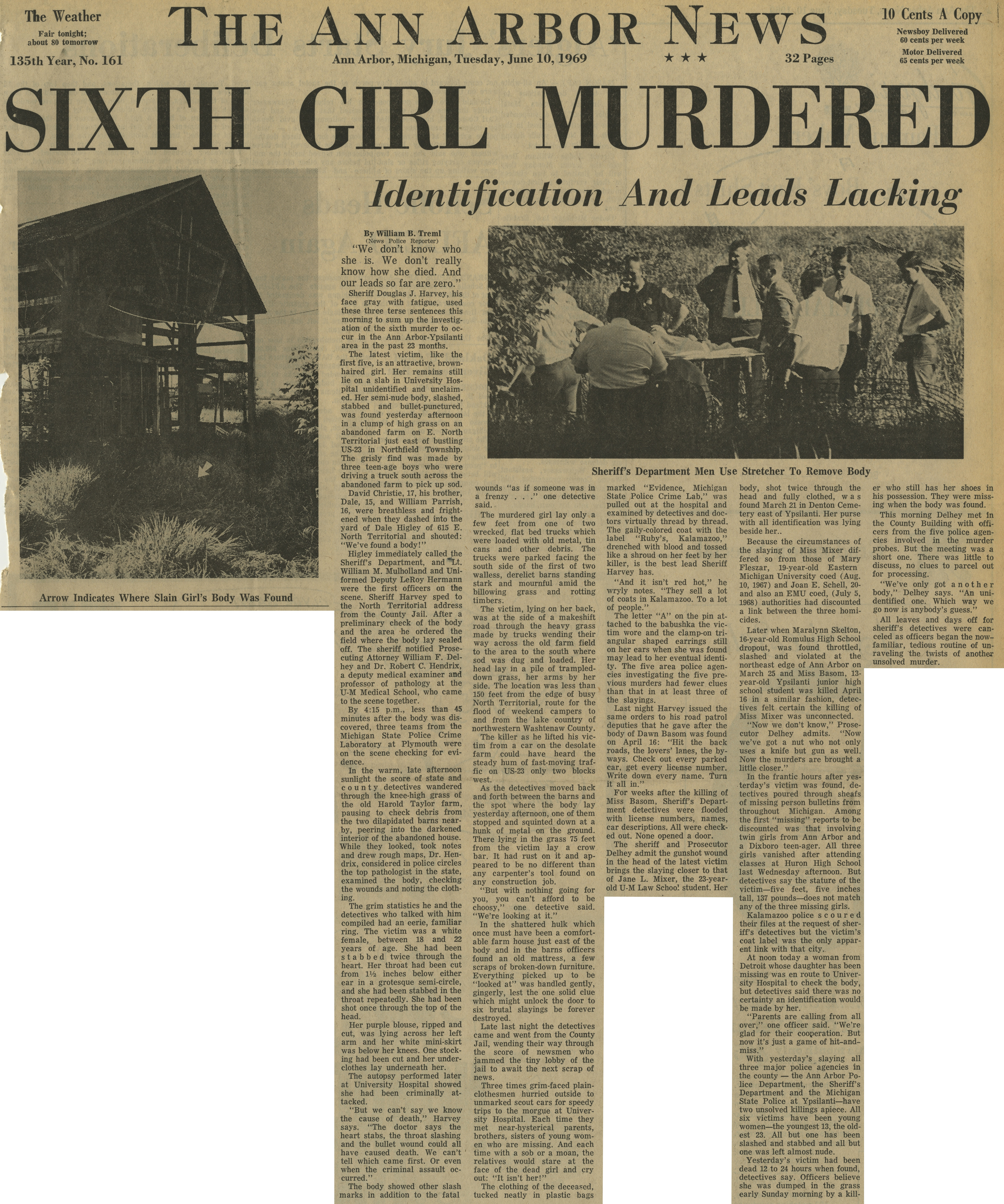 Sixth Girl Murdered image