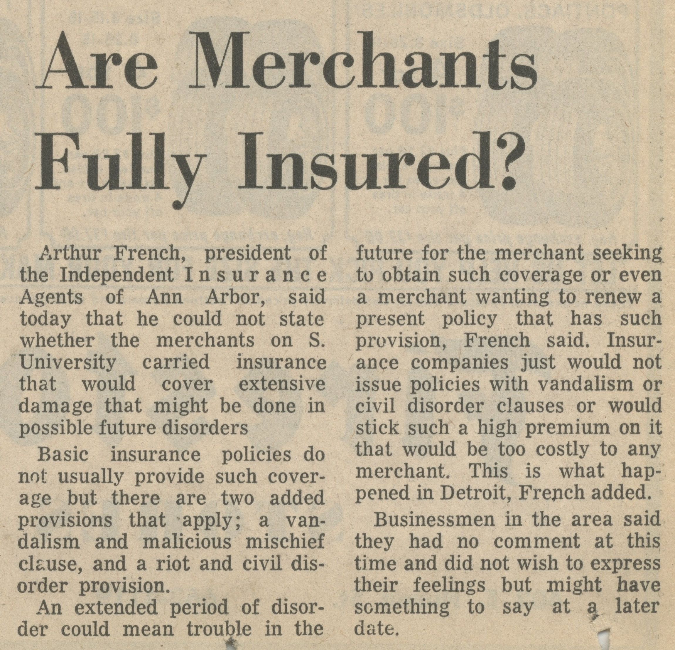 Are Merchants Fully Insured? image