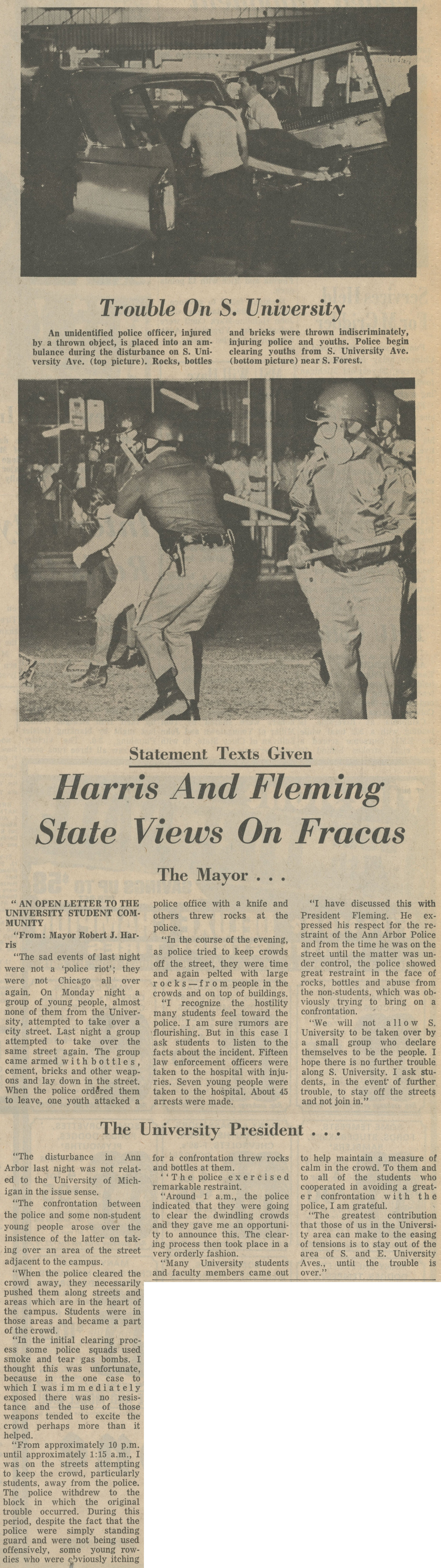 Harris and Fleming State Views on Fracas image