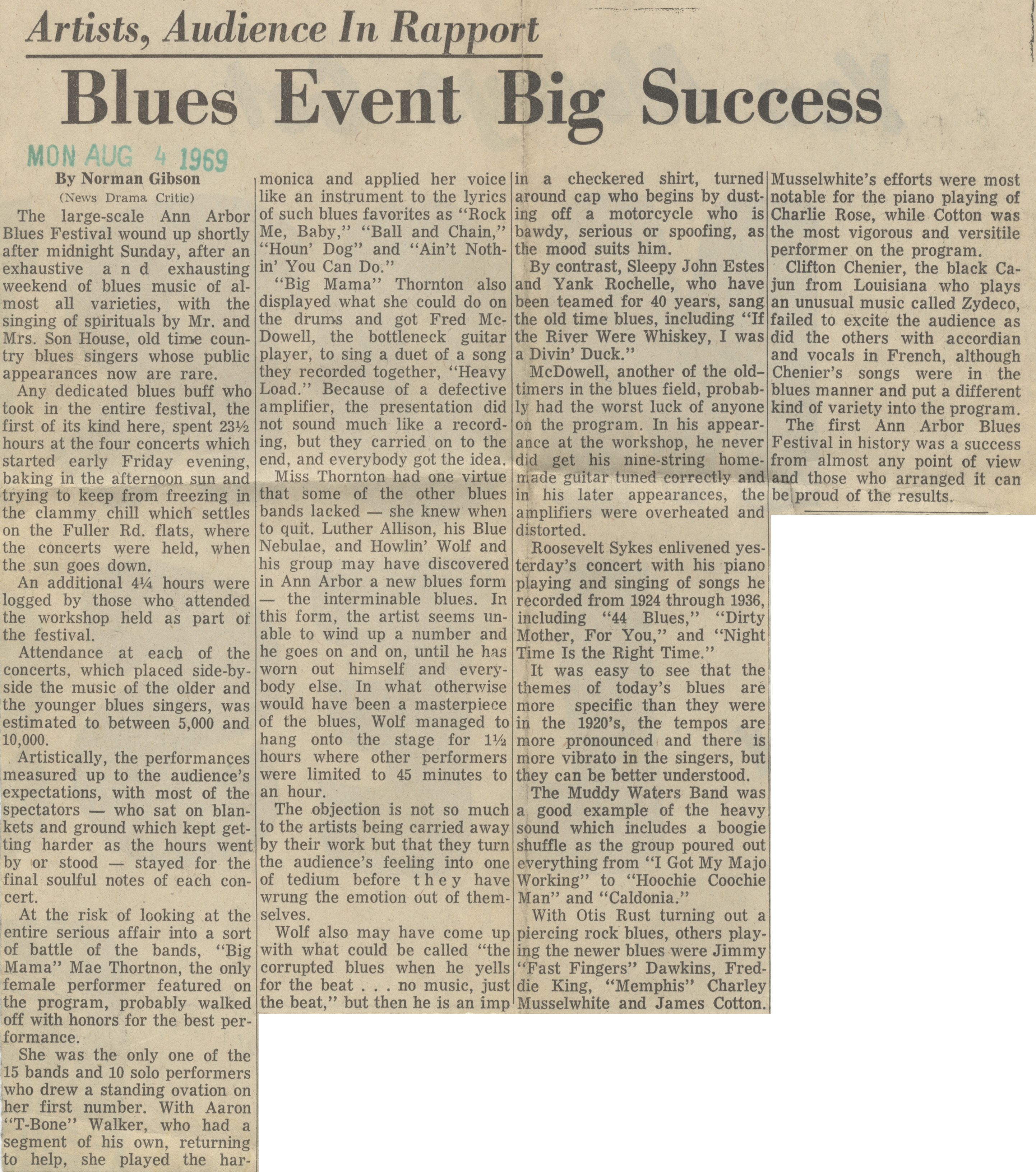 Blues Event Big Success image
