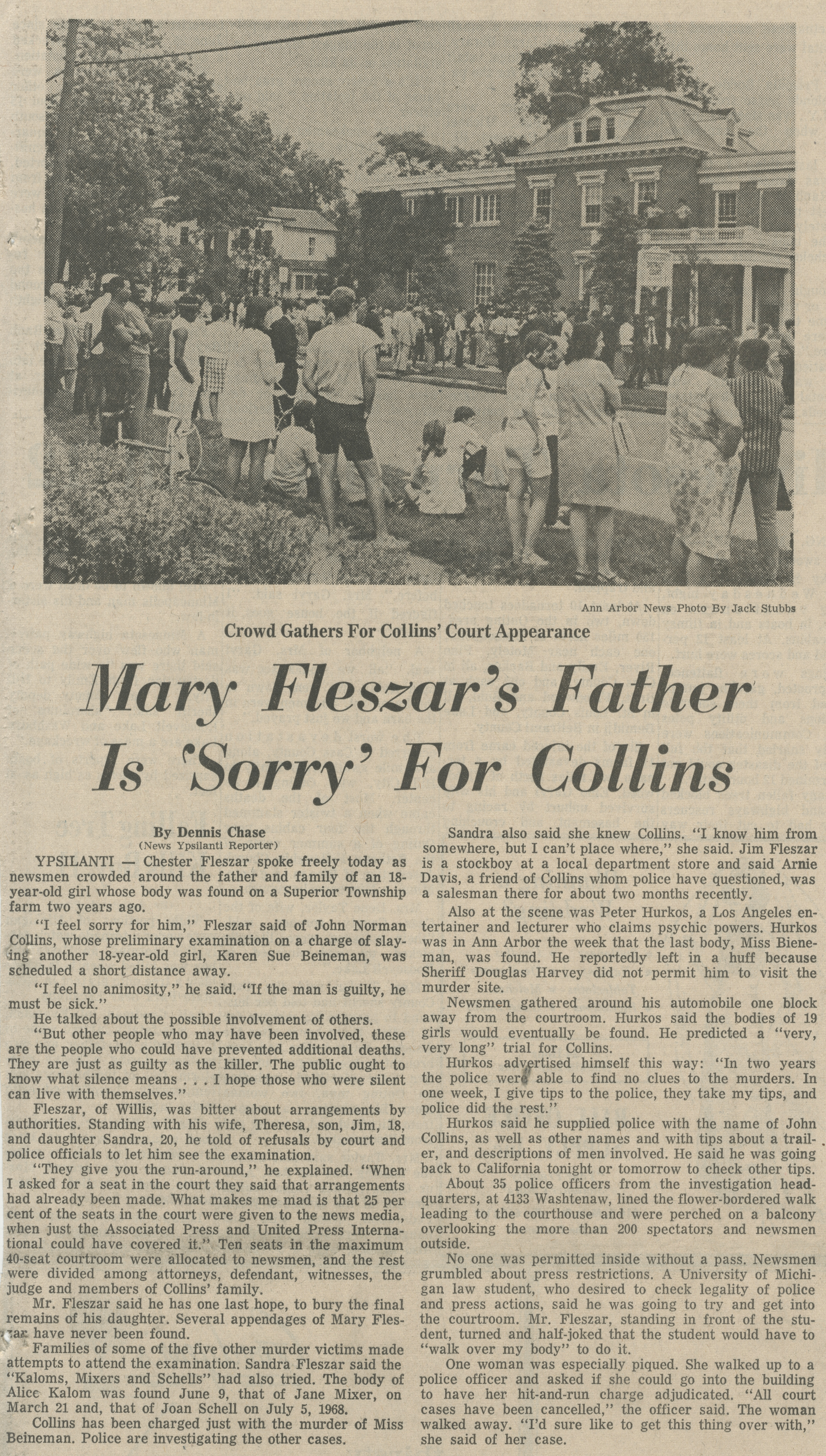 Mary Fleszar's Father Is 'Sorry' For Collins image